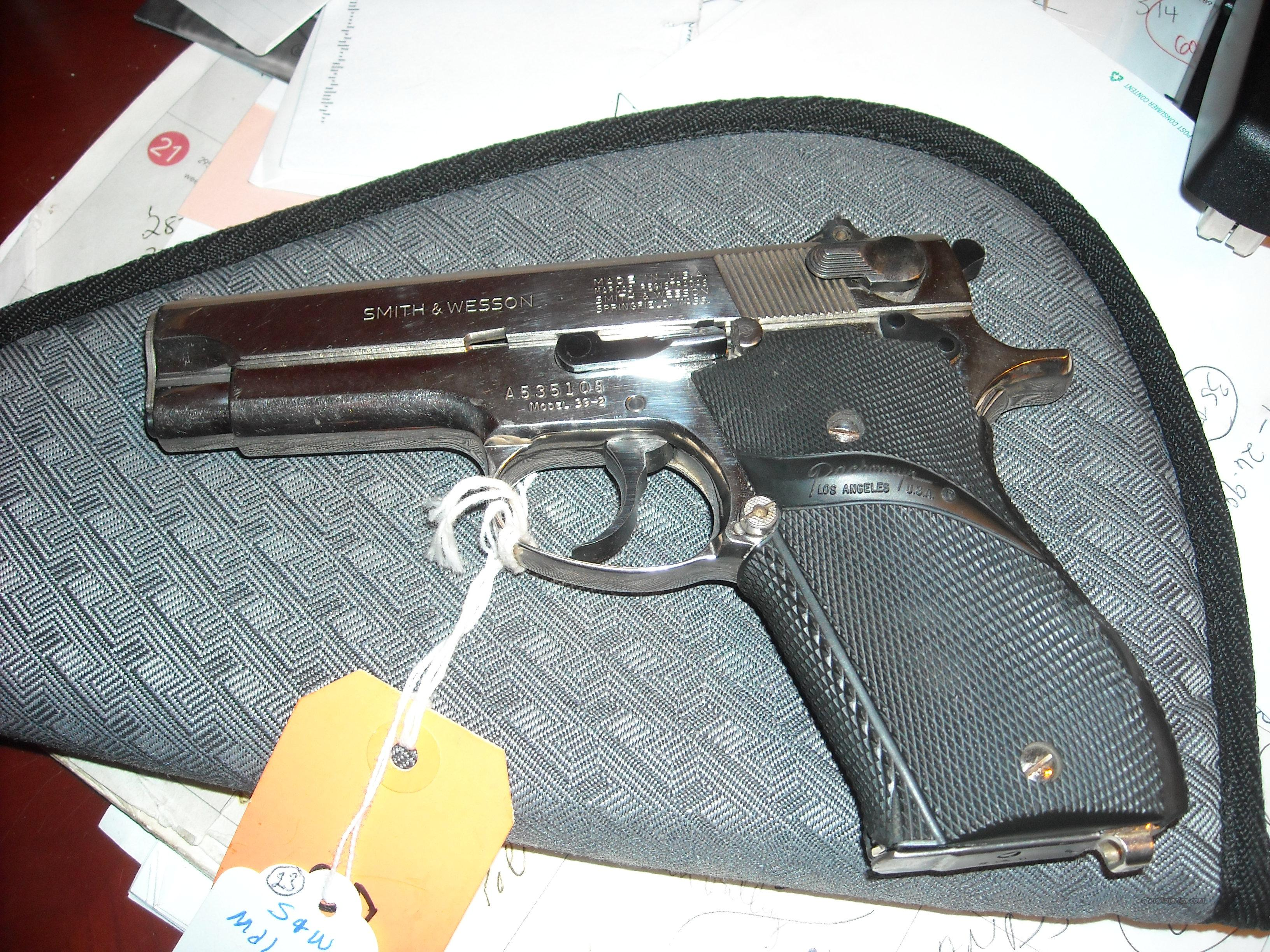 SMITH & WESSON MODEL 39-2 9mm Nickel   Guns > Pistols > Smith & Wesson Pistols - Autos > Steel Frame