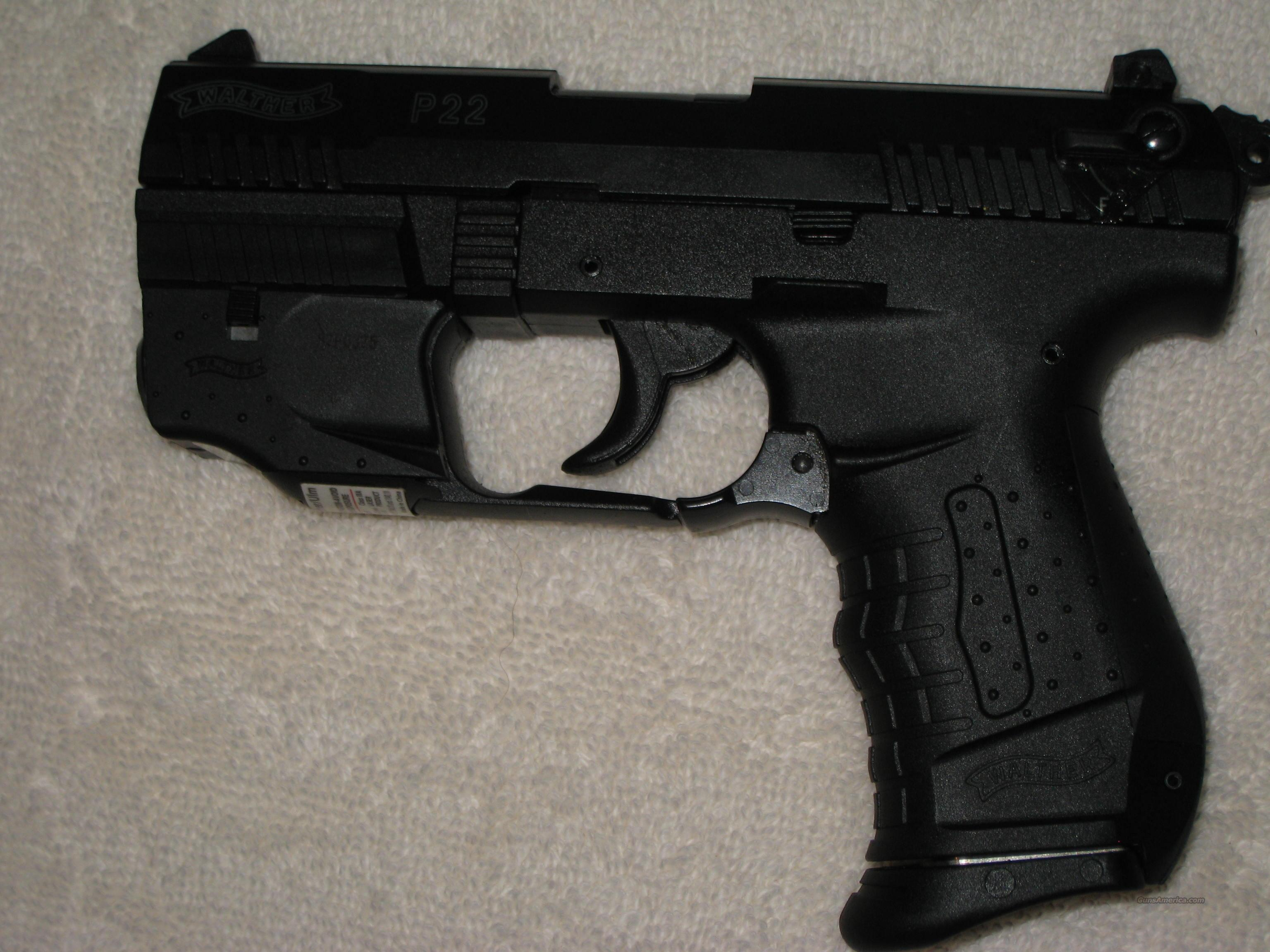 Walther P22 w/Factory Lasersight + 4 OEM Factory Clips  Guns > Pistols > Walther Pistols > Post WWII > PP Series