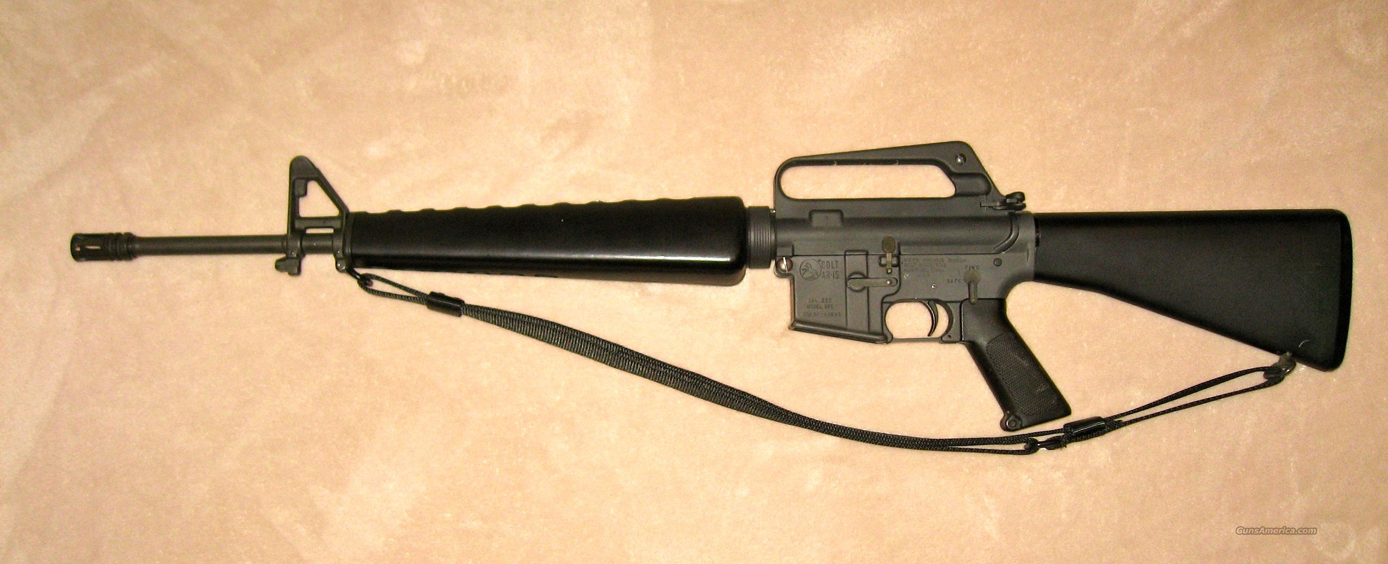 Colt AR-15 .223 SP1 Sporter Pre-Ban  Guns > Rifles > Colt Military/Tactical Rifles