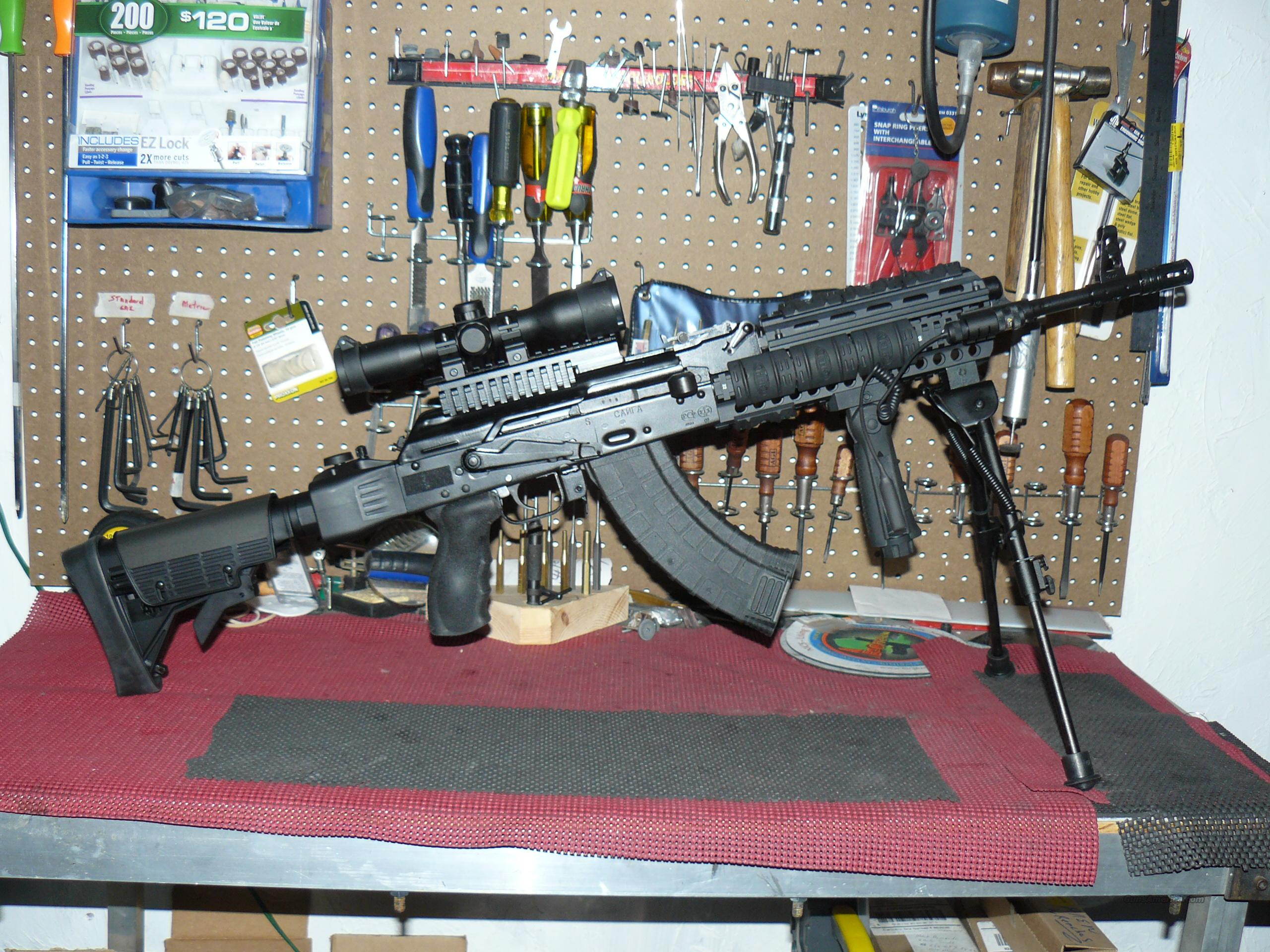 "Saiga ""AK 74 Strikeforce Tactical"" Package; 4X32 R/G Mil-Dot Reticle, Tactical Bi-Pod  Guns > Rifles > Saiga Rifles"