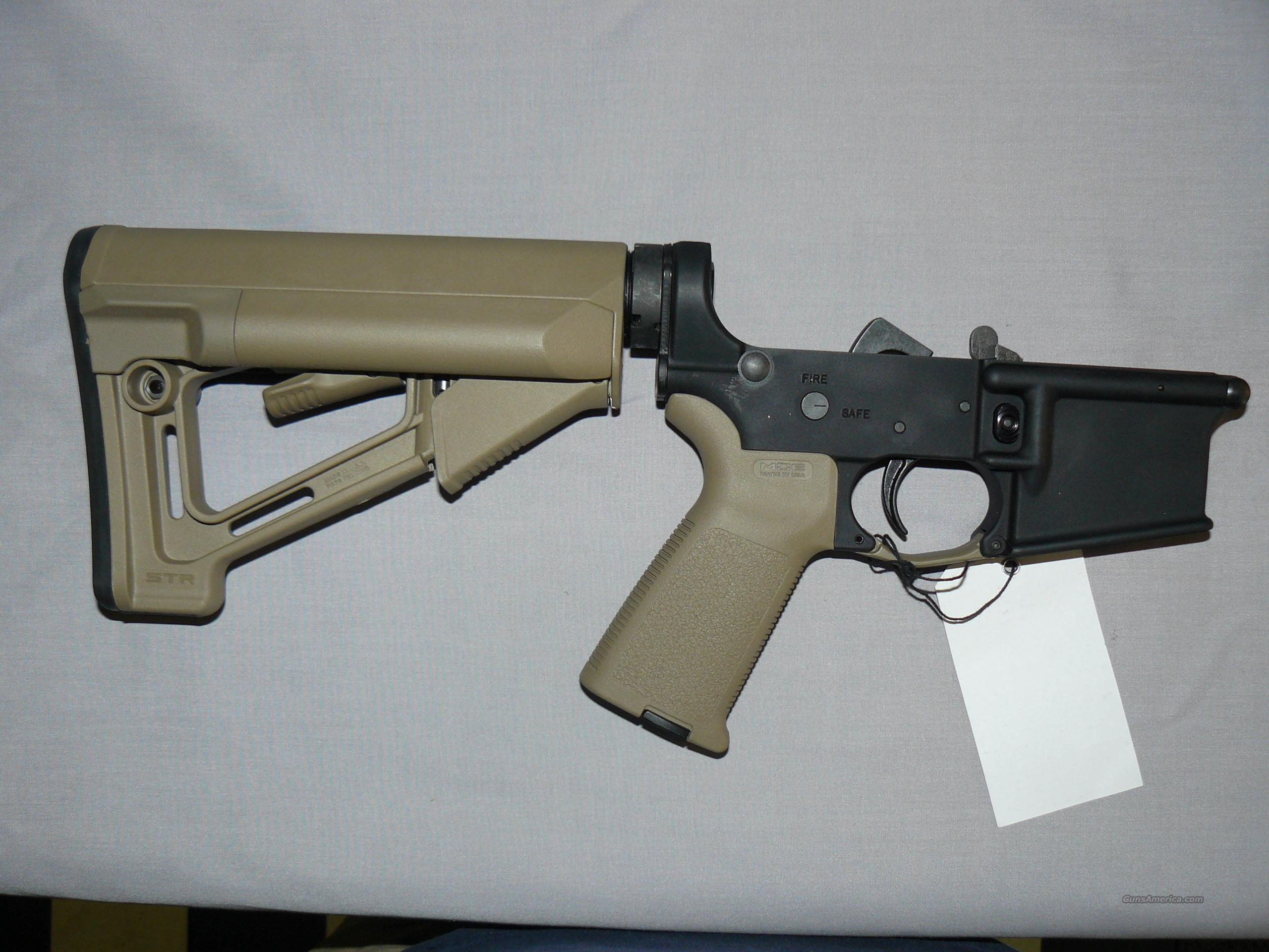 MAGPUL MOE STR FDE COMPLETE STAG AR 15 LOWER  Guns > Rifles > AR-15 Rifles - Small Manufacturers > Lower Only