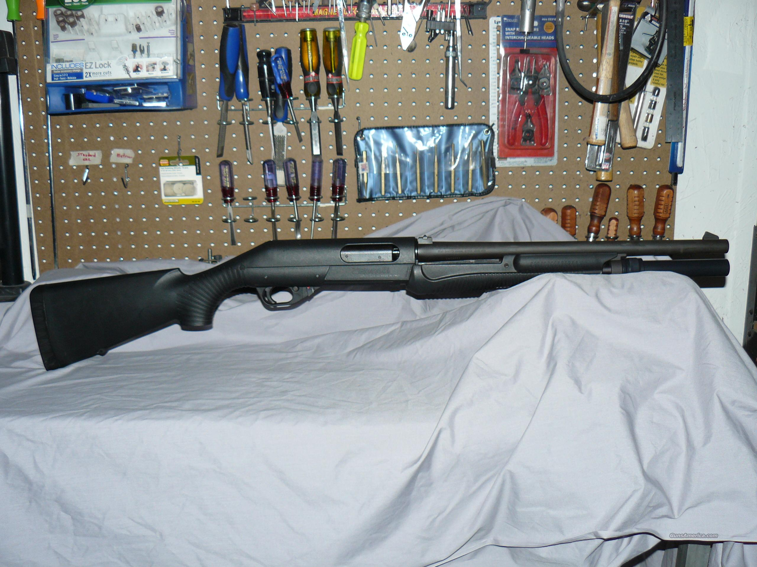 Benelli Nova VG 12ga, 8-Shot Ext. Mag Semi-Auto Package w/ Laser/Flashlight  Guns > Shotguns > Benelli Shotguns > Tactical