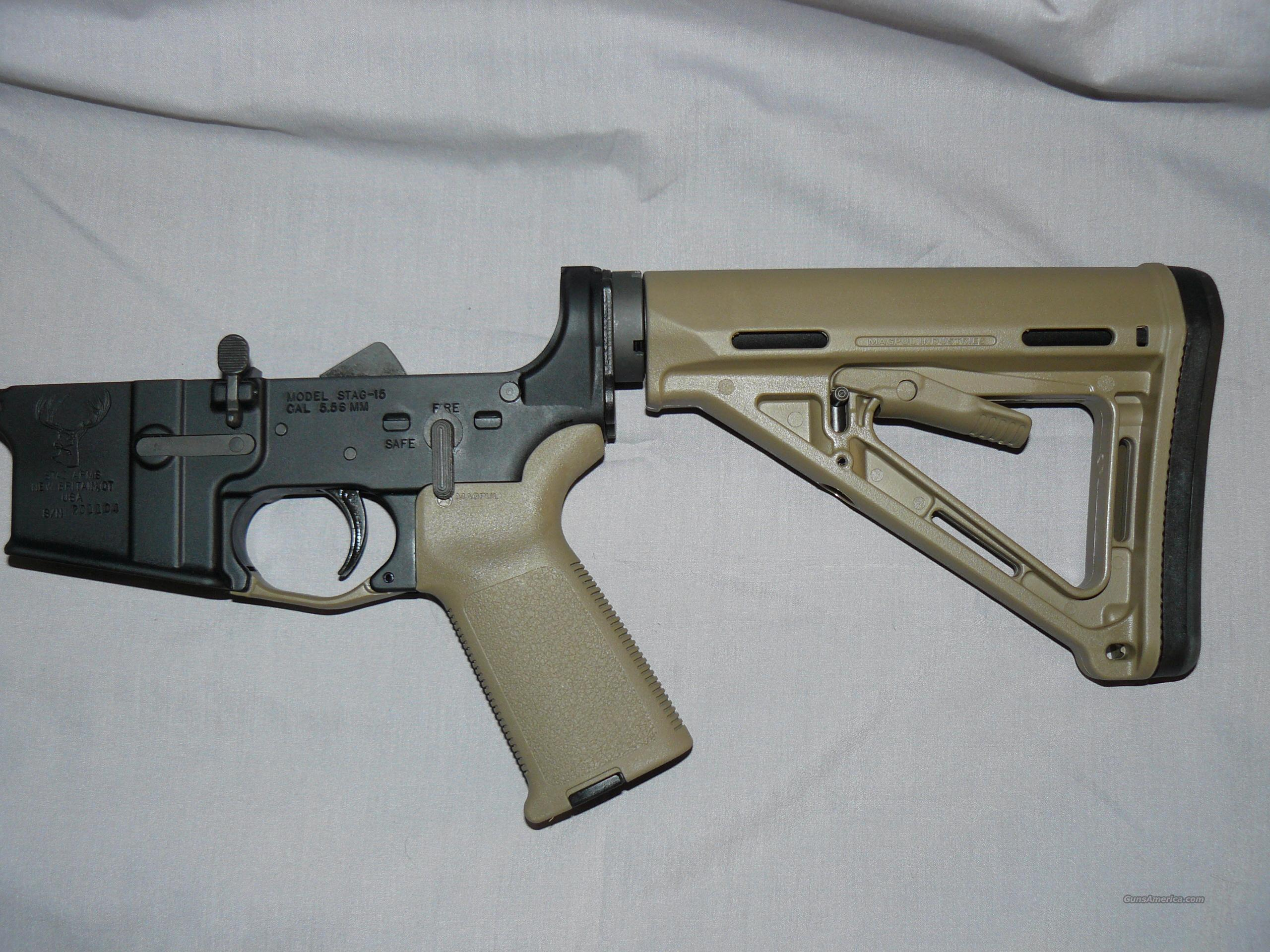 MAGPUL MOE FDE COMPLETE STAG AR15 LOWER  Guns > Rifles > AR-15 Rifles - Small Manufacturers > Lower Only