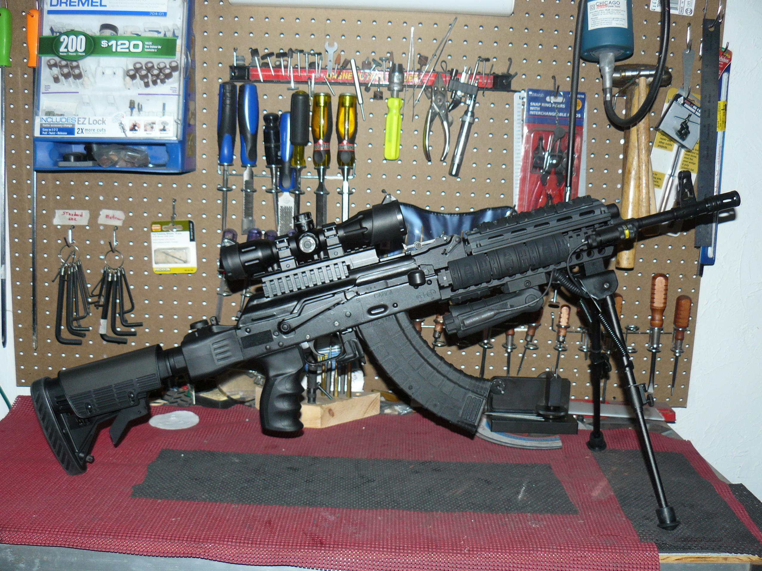 "Saiga ""AK 47 Operators Tactical"" Package; 4X32 R/G Mil-Dot Reticle, Tactical Bi-Pod  Guns > Rifles > Saiga Rifles"