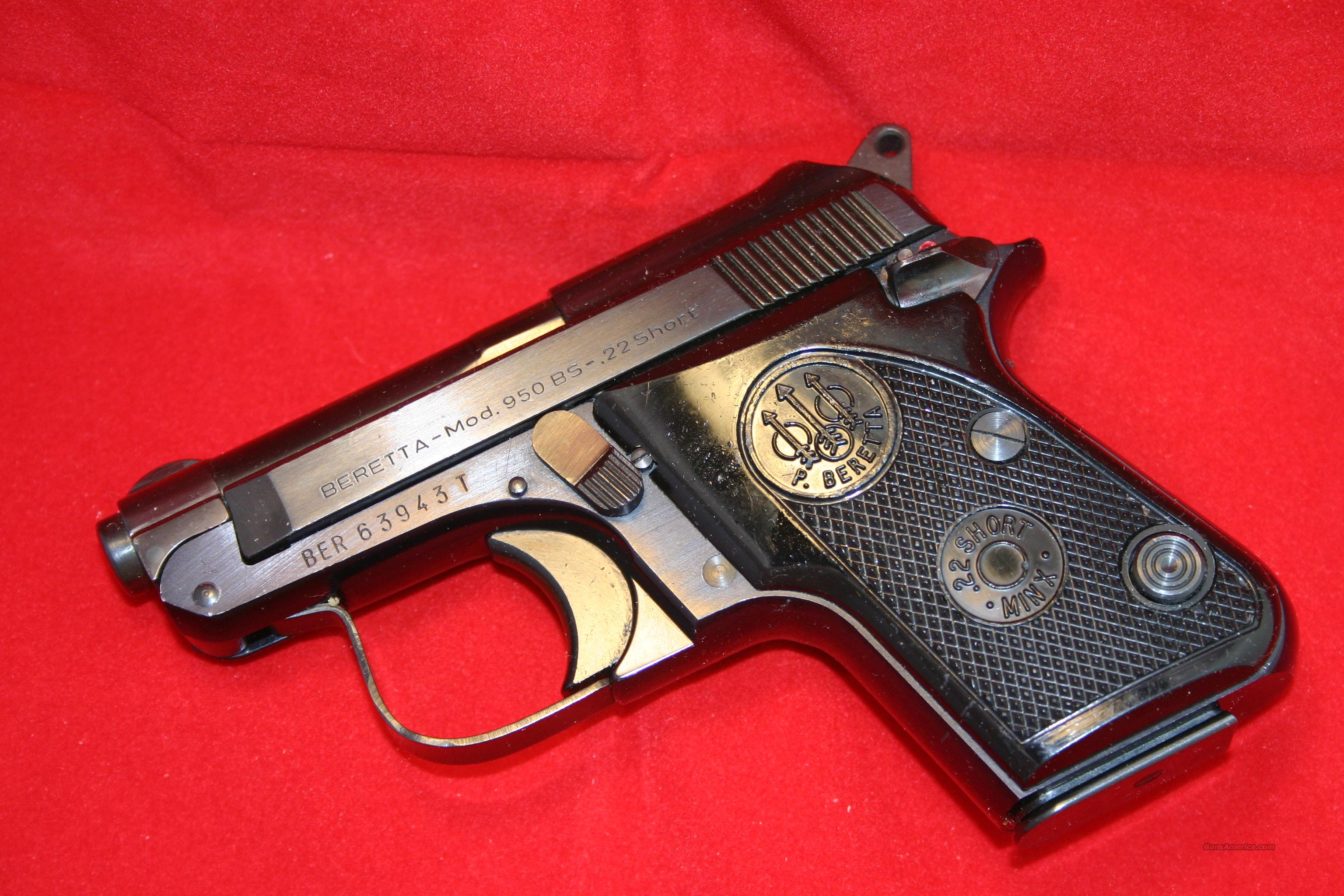 Beretta M950 BS MINX .22 short  Guns > Pistols > Beretta Pistols > Small Caliber Tip Out