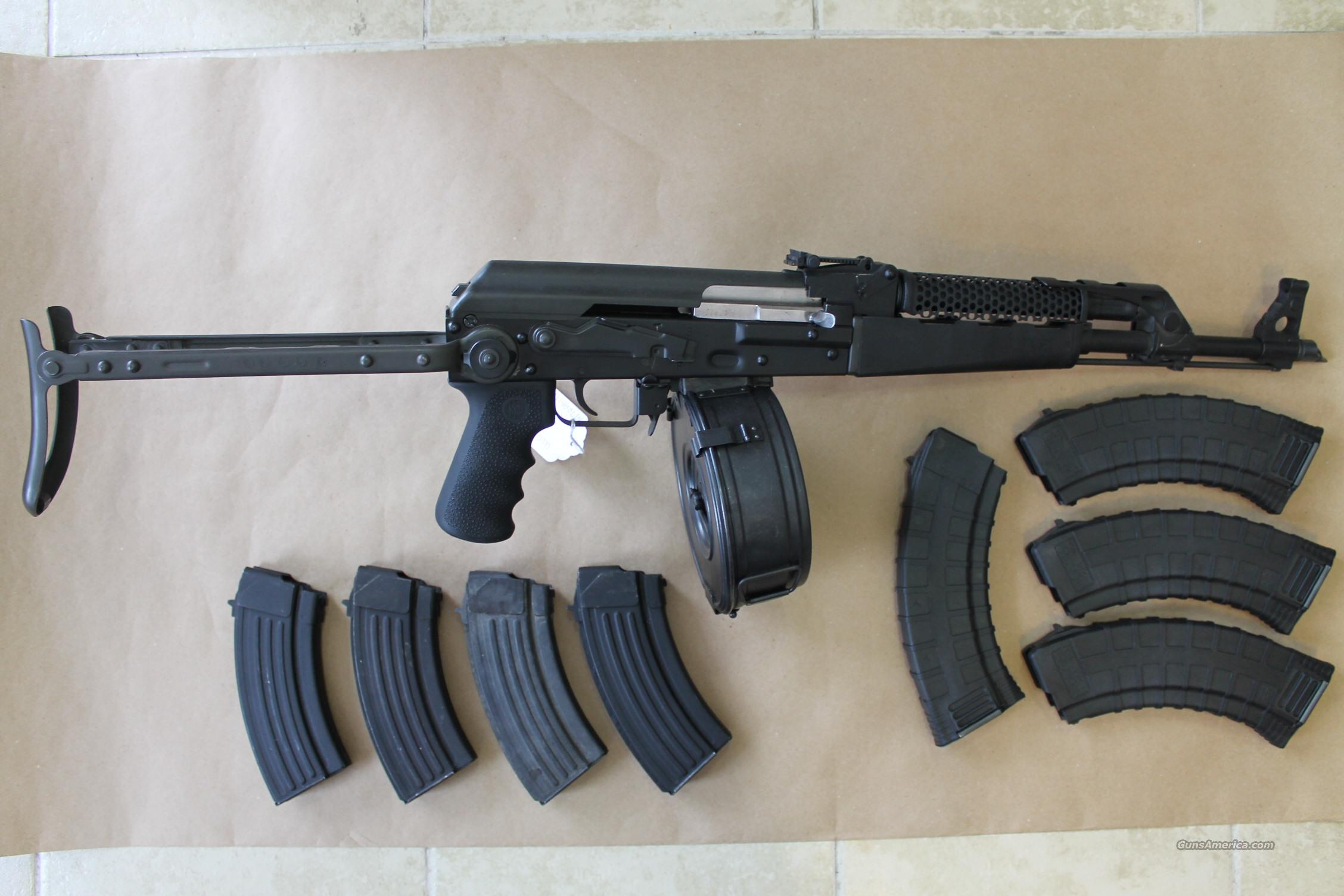 CENTURY INTERNATIONAL ARMS, INC. Model M70AB2, 7.62x39 AK-47 FOLDING STOCK RIFLE, SUPER CLEAN, WITH DRUM & 8 OTHER MAGS!!!  Guns > Rifles > Century International Arms - Rifles > Rifles