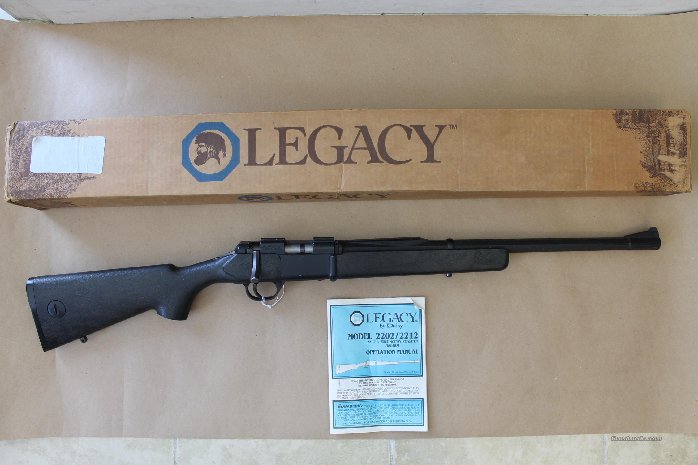 LEGACY BY DAISY MODEL 2202, .22 CAL LONG RIFLE, BOLT ACTION REPEATER RIFLE!!!  Guns > Rifles > D Misc Rifles