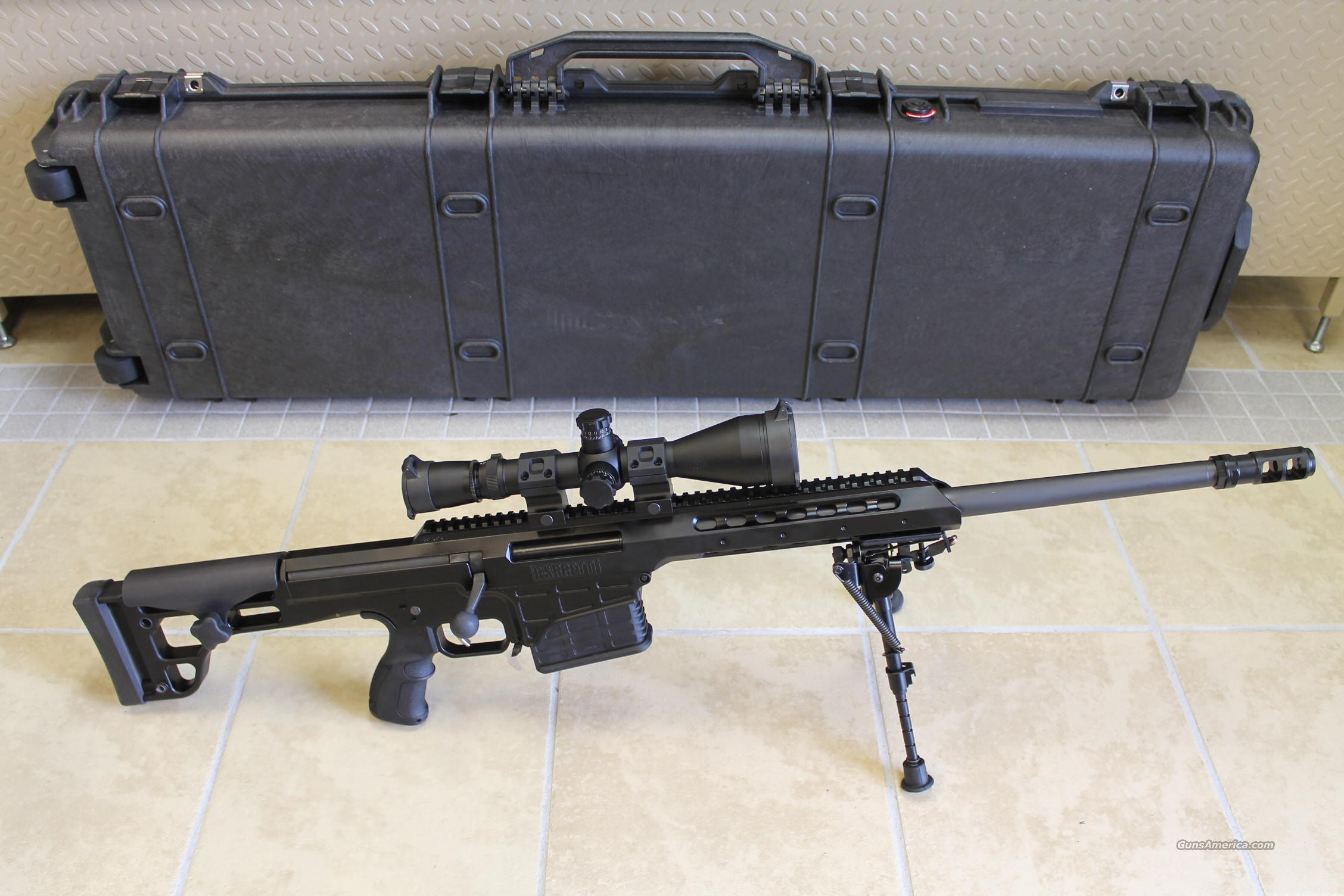 "NIB BARRETT MODEL 98B, .338 LAPUA, 20"" HEAVY BARREL,  w/LEUPOLD MARK-4 M1 SCOPE, 2 MAGS, PELICAN CASE, CLEANING &  FIELD KITS!!!  Guns > Rifles > Barrett Rifles"