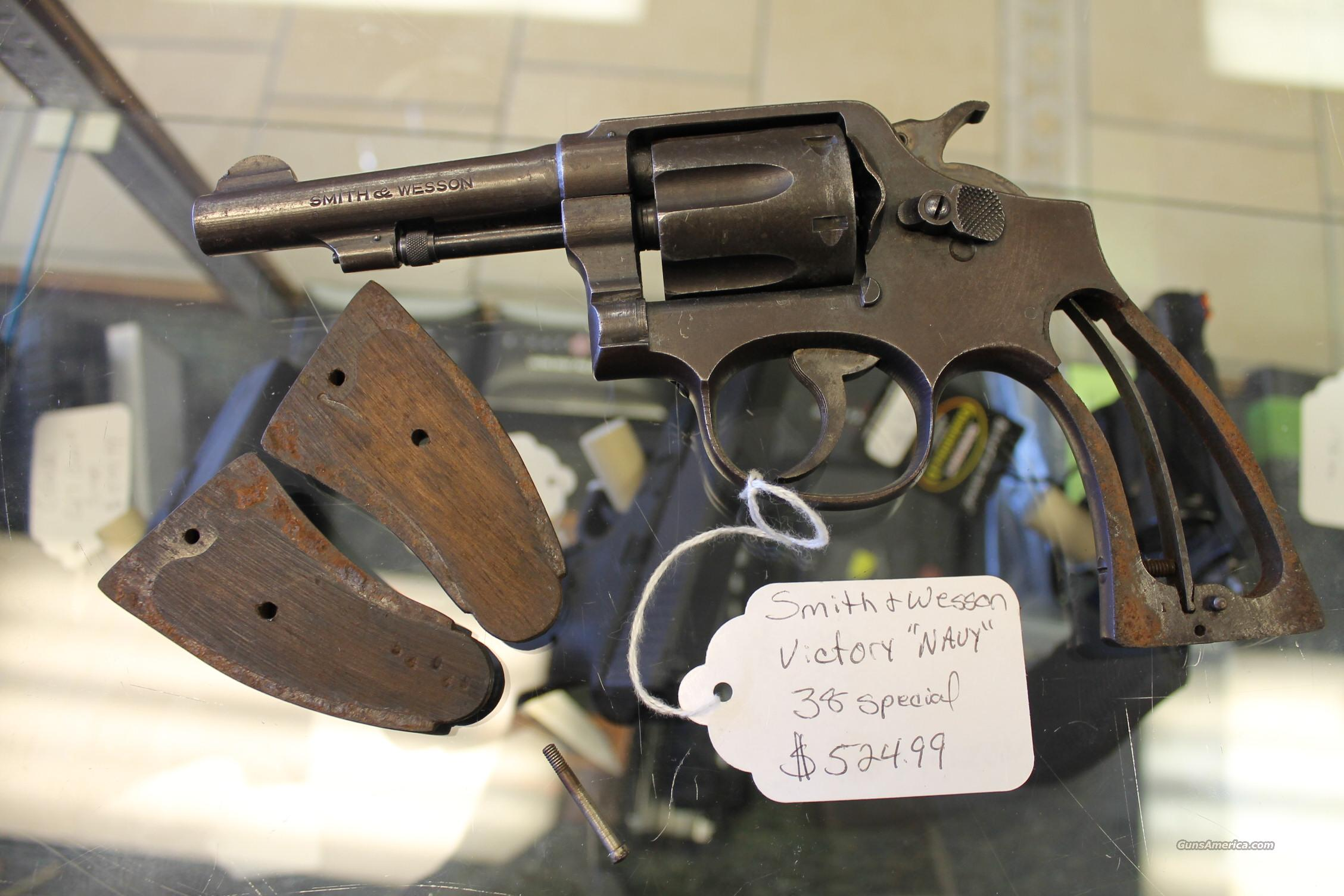 "SMITH & WESSON VICTORY ""NAVY""  Guns > Pistols > Smith & Wesson Revolvers > Pre-1945"