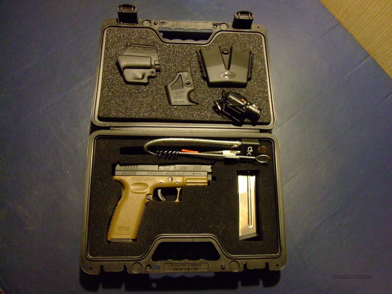 "SPRINGFIELD ARMORY XD 45ACP 4"" COMPACT  PISTOL W/ DARK EARTH FRAME   Guns > Pistols > Springfield Armory Pistols > XD (eXtreme Duty)"