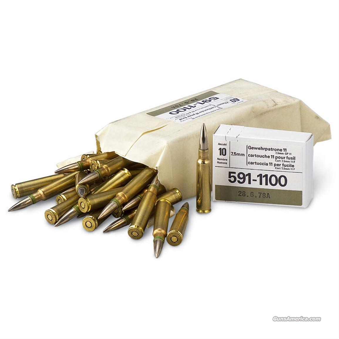 7.5X55 SWISS  Non-Guns > Ammunition