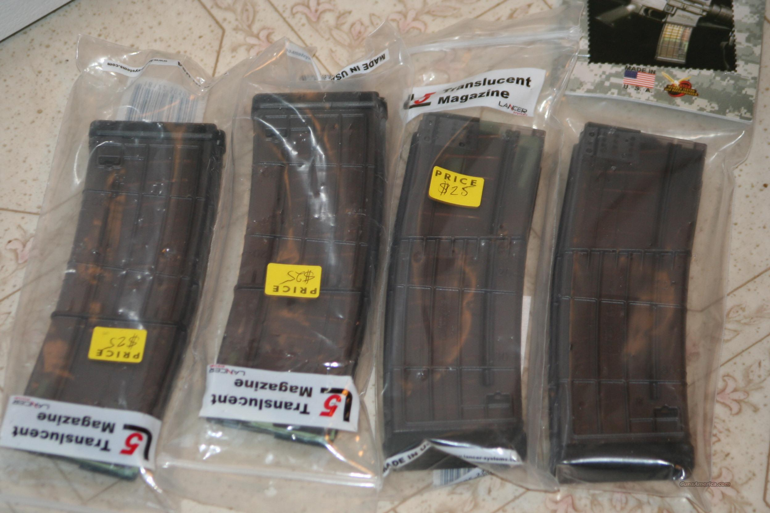 4 Lancer 30rd Magazines Translusent Mags for AR15 SIG FN  Non-Guns > Magazines & Clips > Rifle Magazines > AR-15 Type