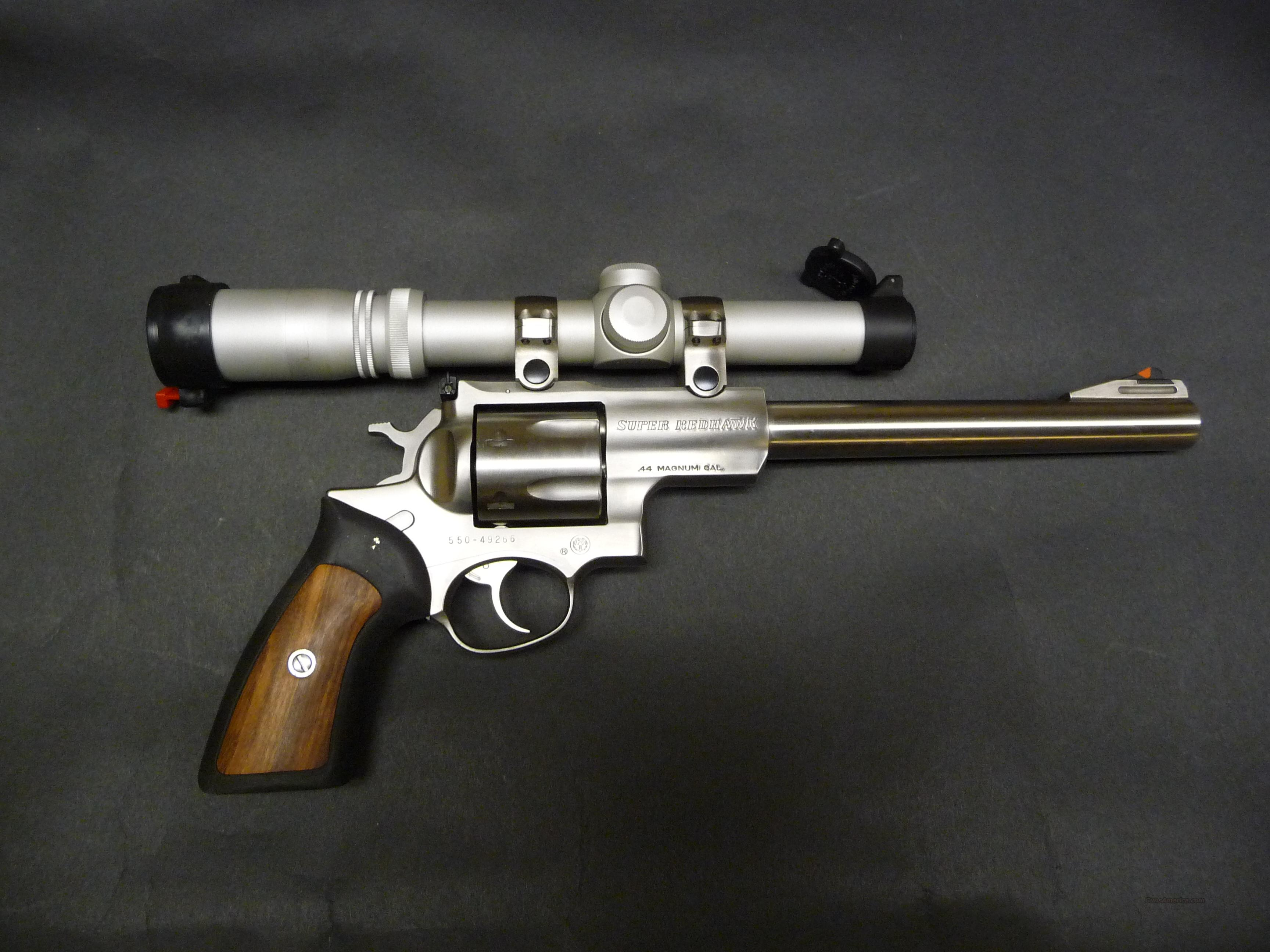 RUGER SUPER REDHAWK with SCOPE  Guns > Pistols > Ruger Double Action Revolver > Redhawk Type