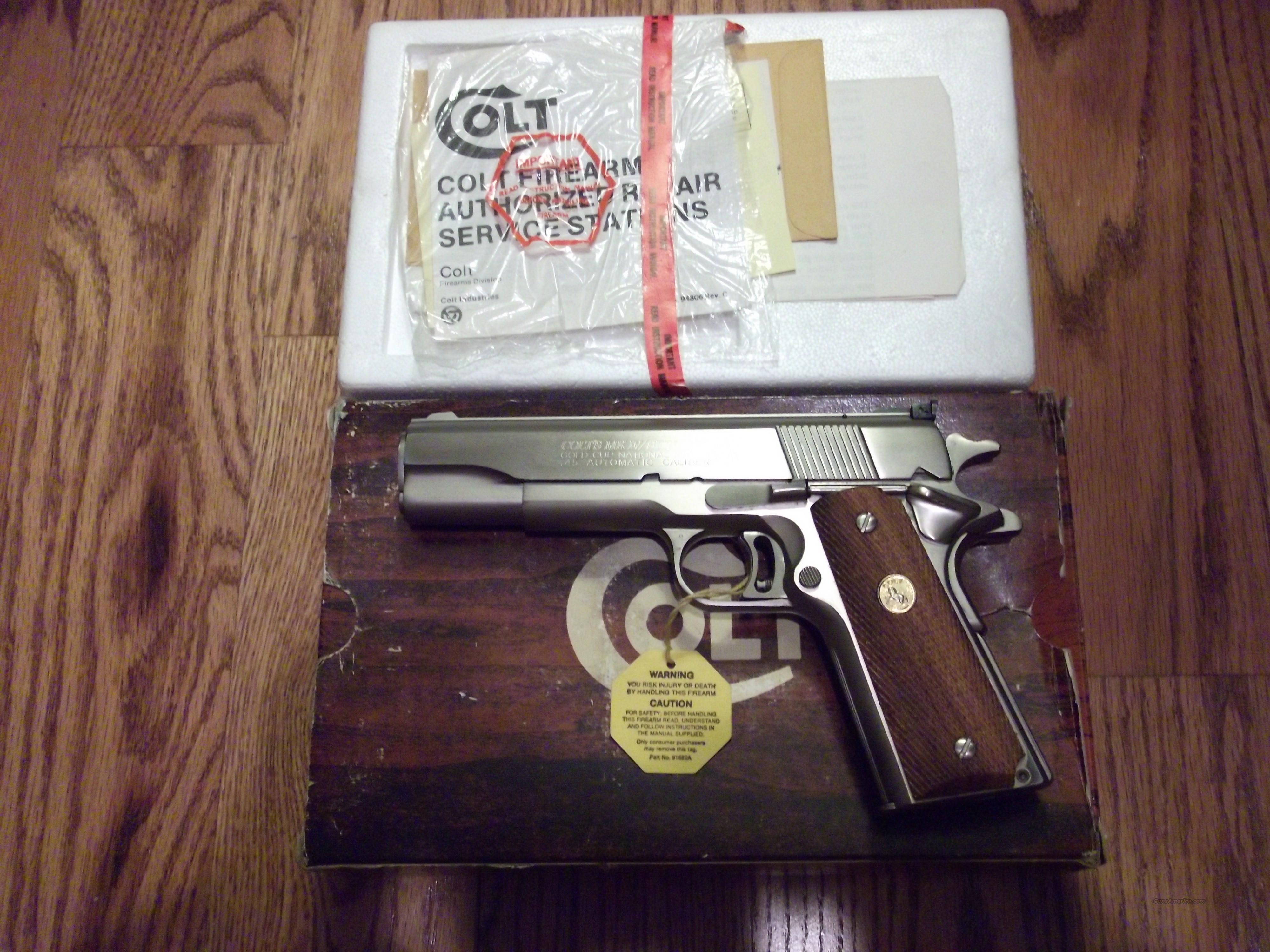 Colt Gold Cup Series 70 Electrolysis Nickel  Guns > Pistols > Colt Automatic Pistols (1911 & Var)