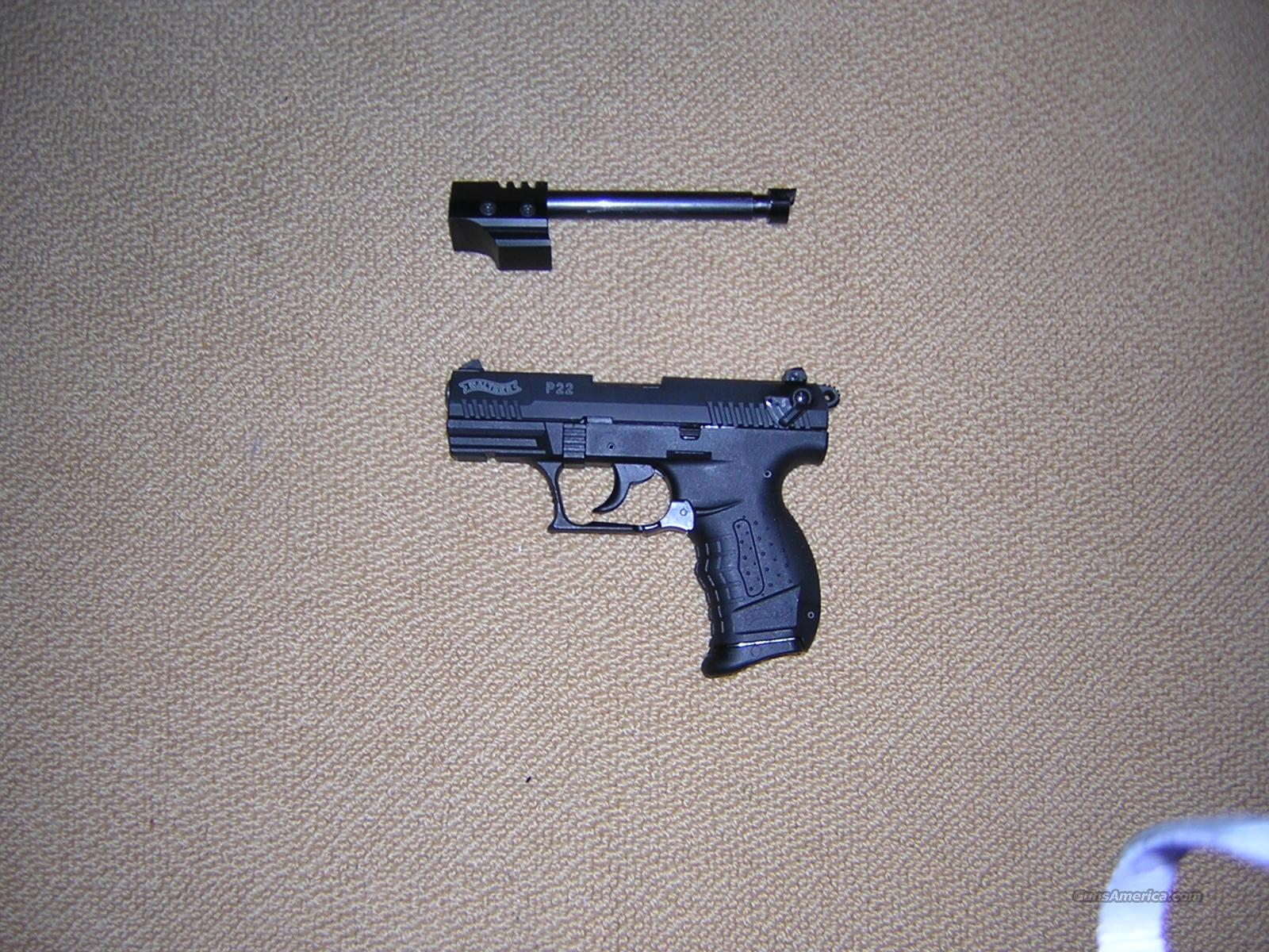 "Walther P22 5.0' PLUS 3.4"" barrel-GREAT DEAL  Guns > Pistols > Walther Pistols > Post WWII > Target Pistols"