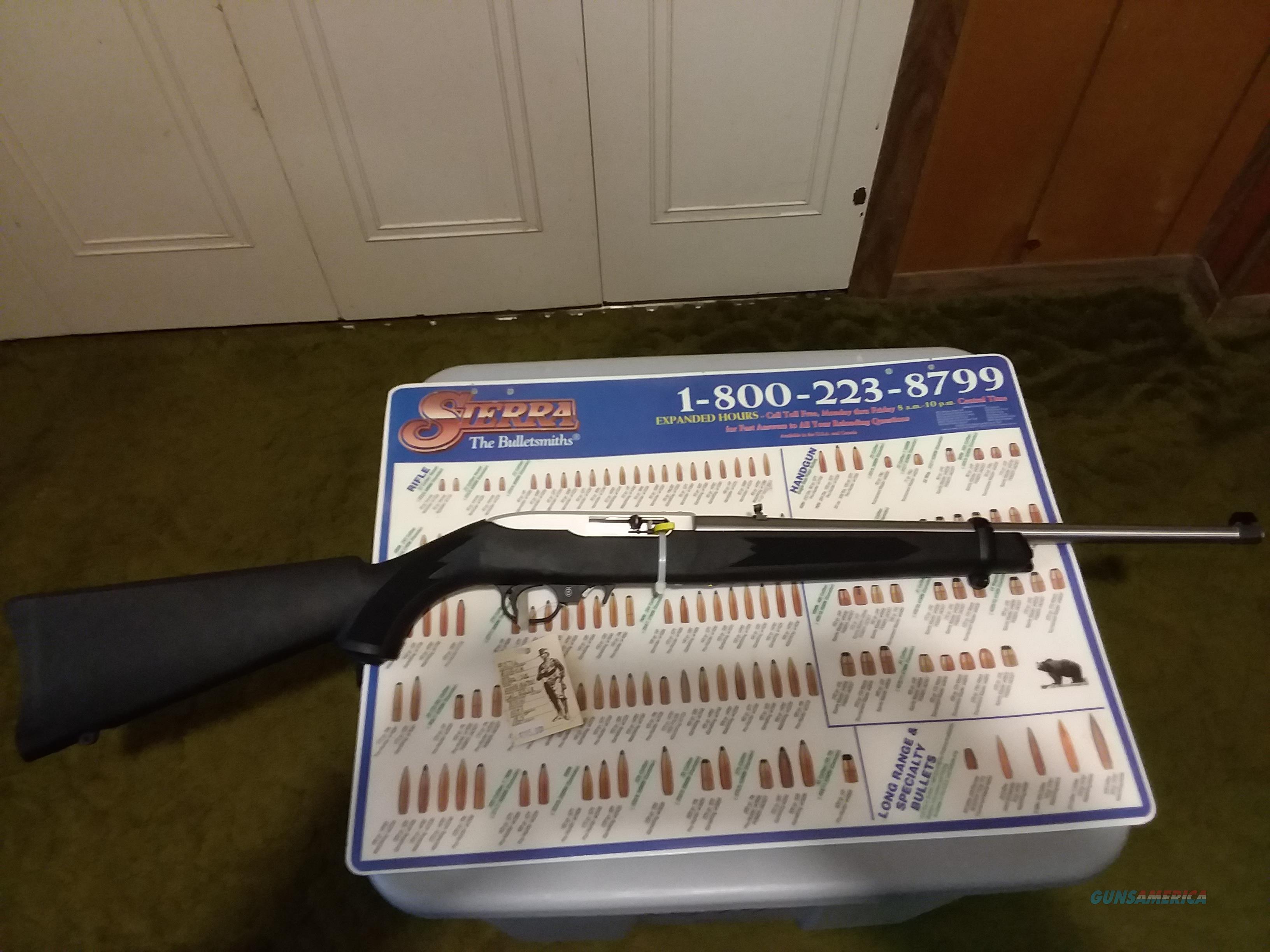 """RUGER 10/22 22LR SS Syn. Stock 18.5""""Bbl 10RD NIB  Guns > Rifles > Ruger Rifles > 10-22"""