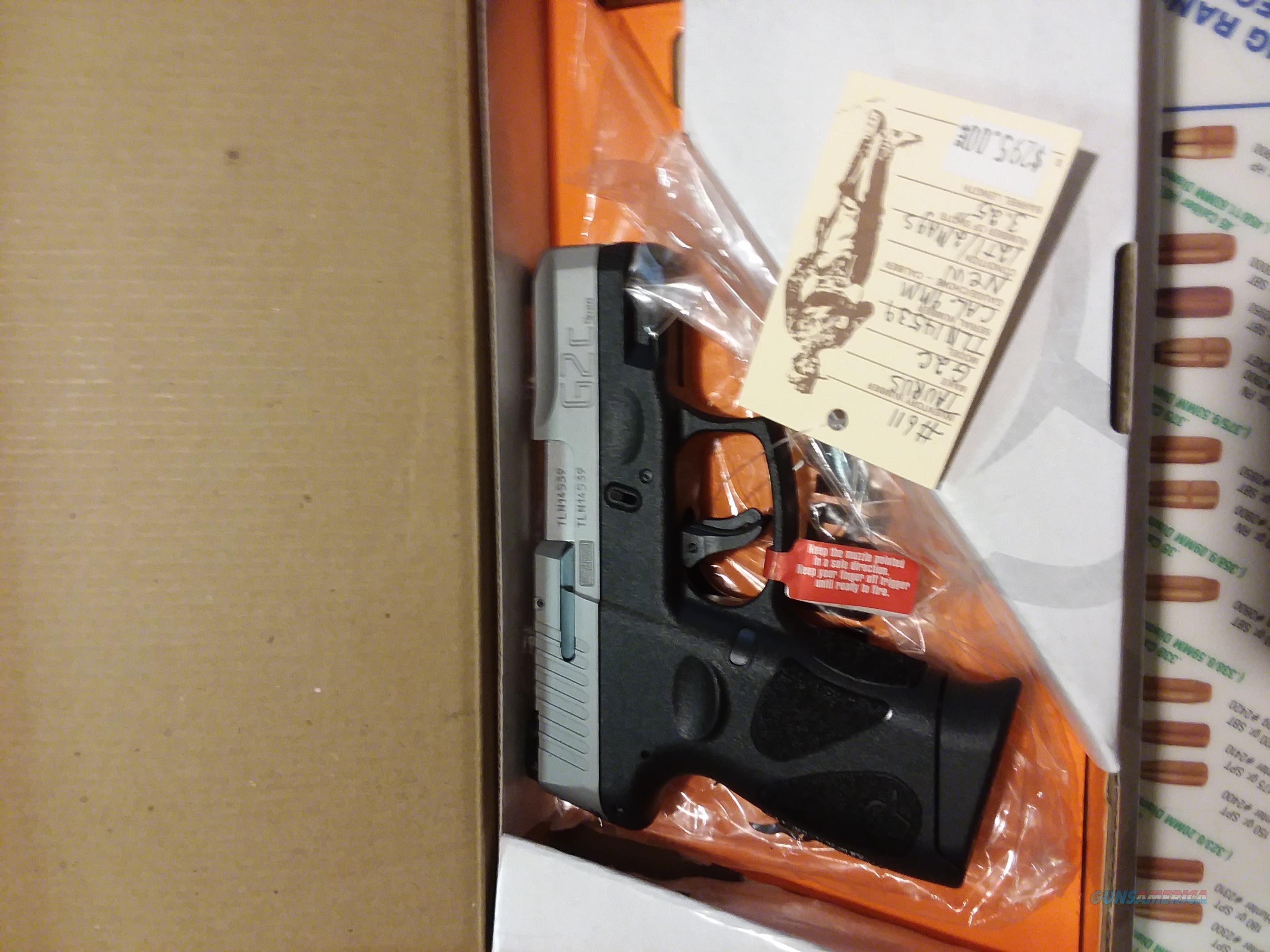 "TAURUS G2C 9MM 3.26 "" Barrel BK/SS NIB  Guns > Pistols > Taurus Pistols > Semi Auto Pistols > Polymer Frame"