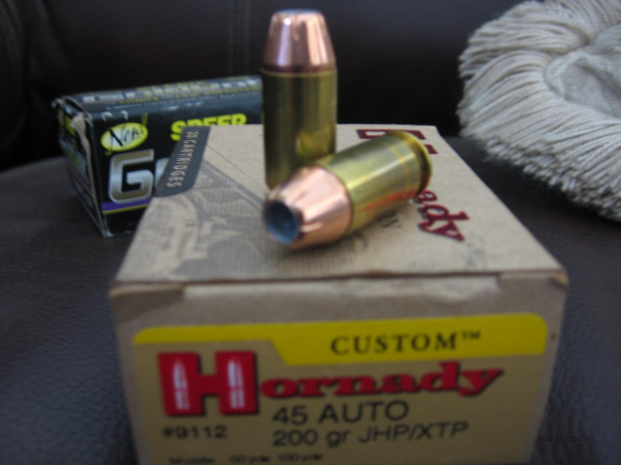 CUSTOM HORNANDY 45 AUTO 200GR JHP/XTP  Non-Guns > Ammunition