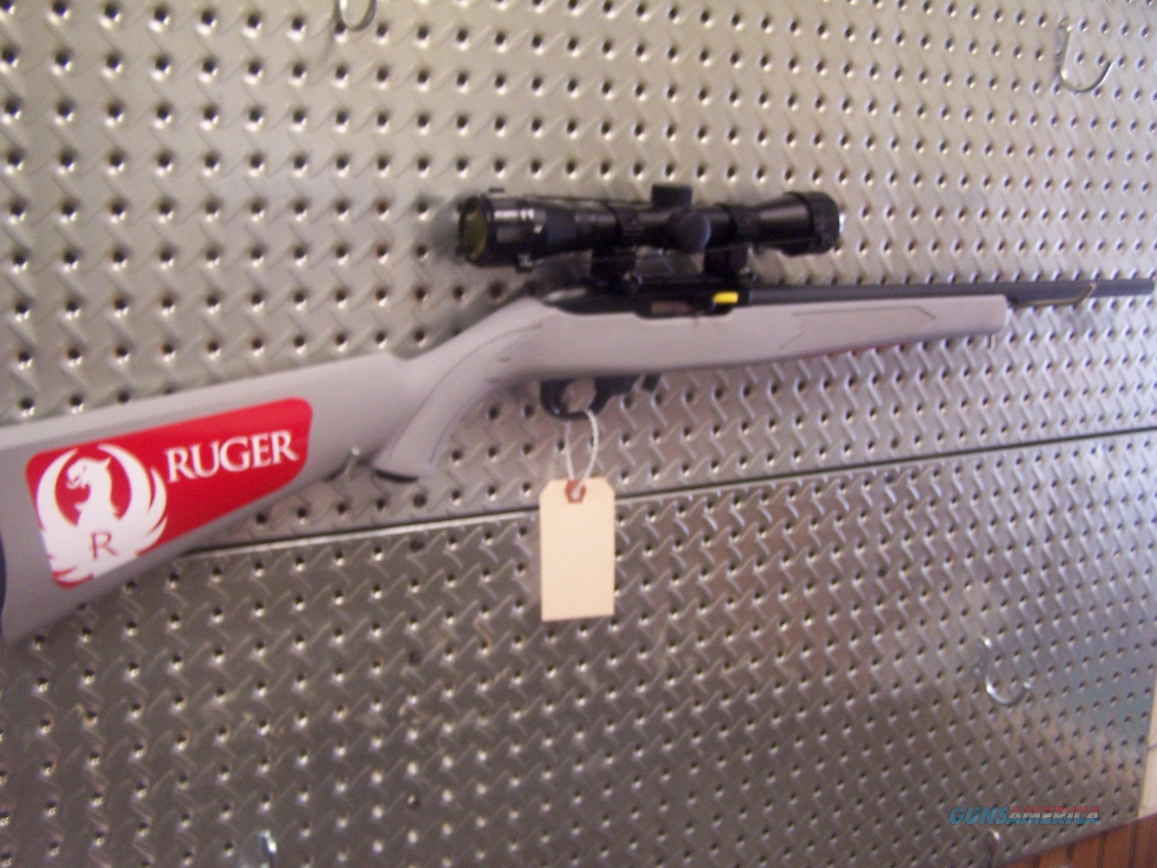 "Ruger 10/22 Carbine .22 LR Semi-Auto 10rd 18.5"" Rifle, Gray Stock w/Redfield 4X36 Scope. NIB  Guns > Rifles > Ruger Rifles > 10-22"