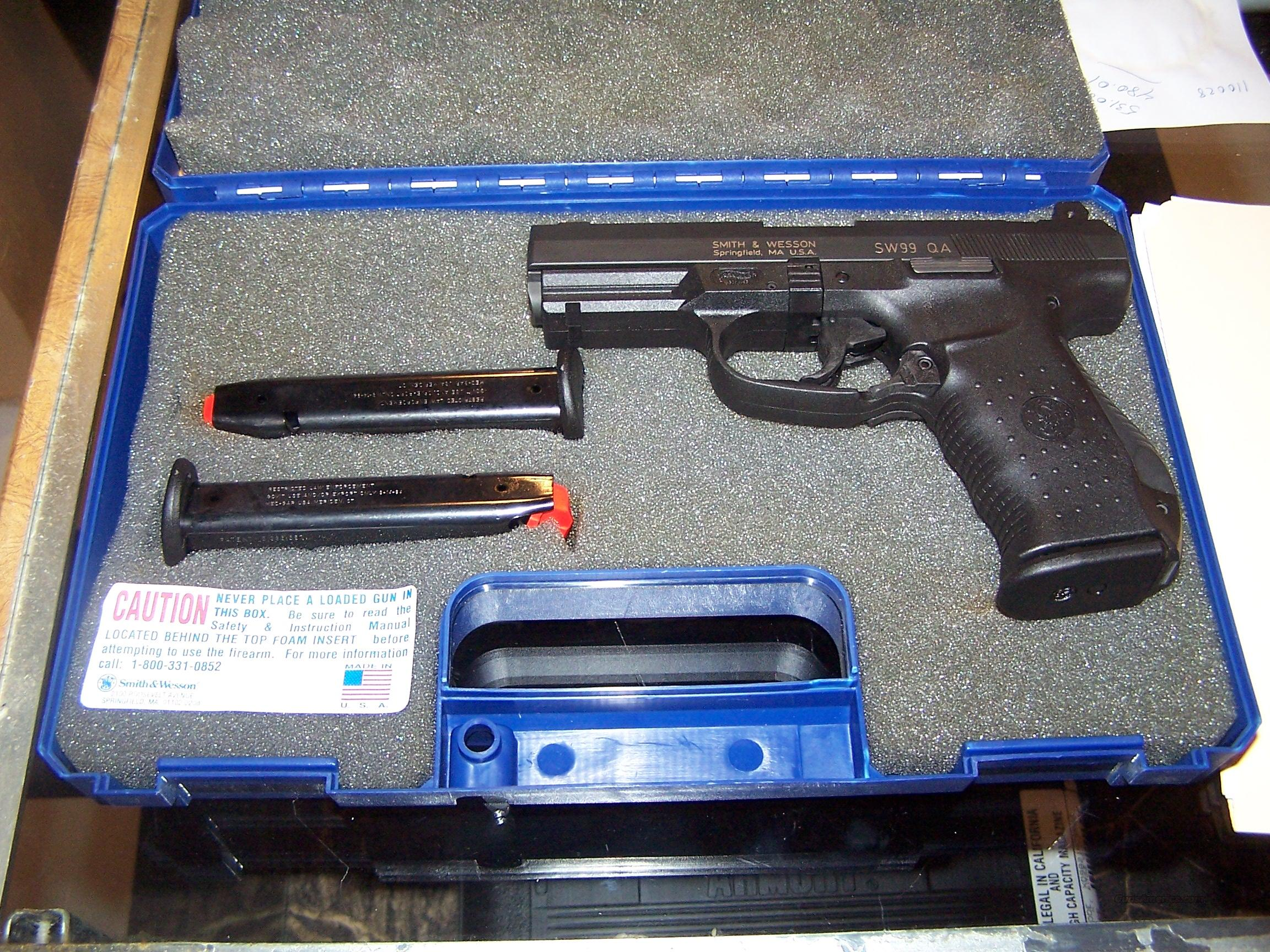 EXCELLENT USED S&W MODEL 99QA. BUILT BY WALTHER!  Guns > Pistols > Smith & Wesson Pistols - Autos > Polymer Frame
