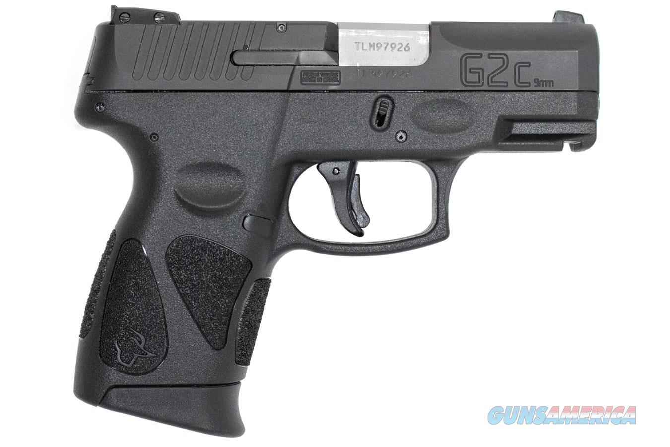 "Taurus PT111 G2C Compact Semi Auto Pistol 9mm Luger 3.2"" Barrel 12 Rounds Double Action Only 3 Dot Sights Black Slide/Black Polymer Frame. NIB !!!  Guns > Pistols > Taurus Pistols > Semi Auto Pistols > Polymer Frame"
