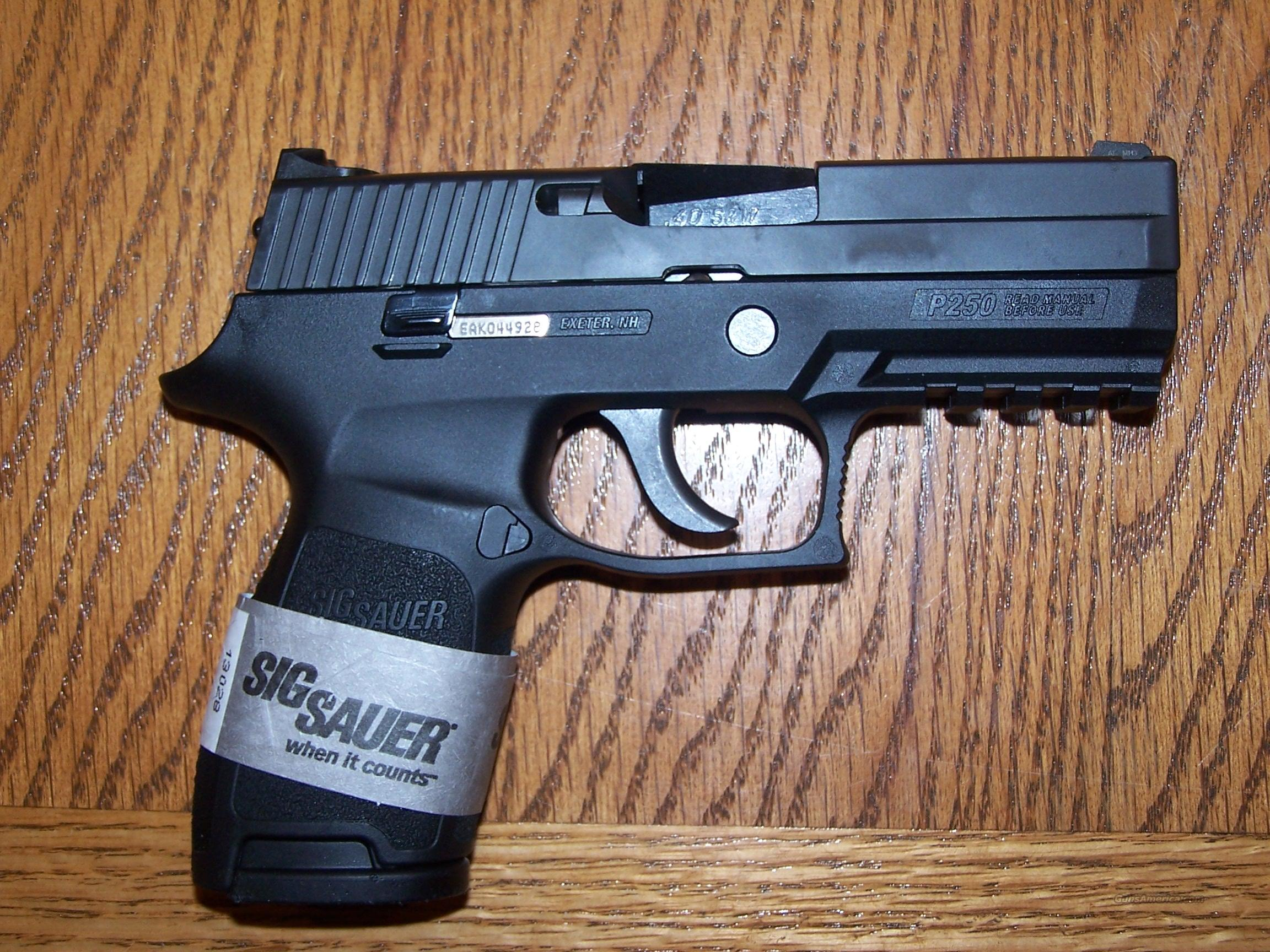 SIG P250C. 40SW. INCLUDES SIG .357 BARREL AND 3-13 ROUND MAGS  Guns > Pistols > Sig - Sauer/Sigarms Pistols > P250