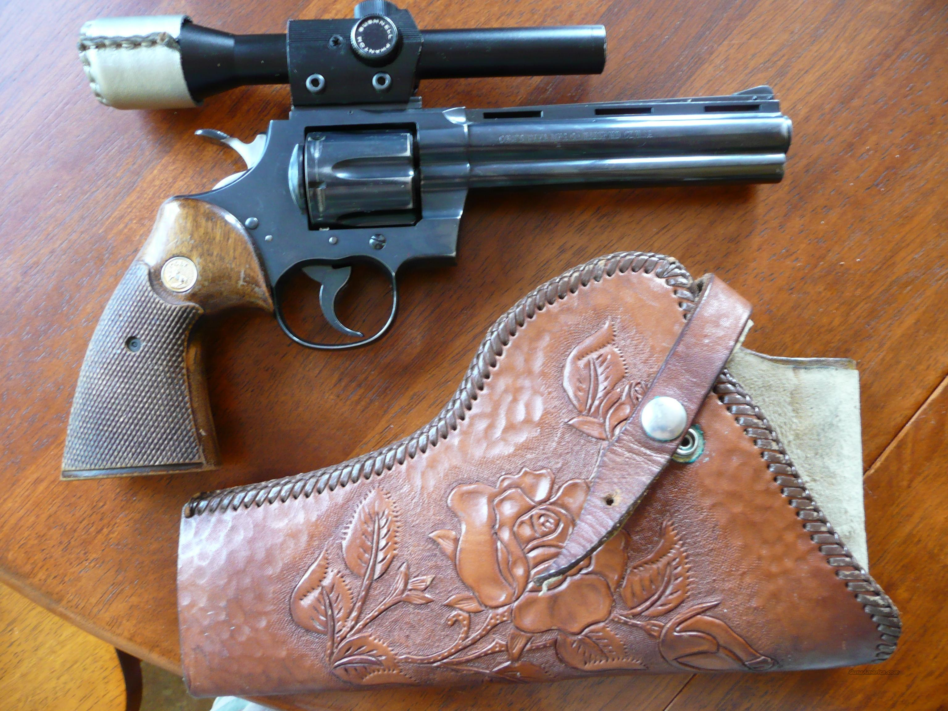 "Colt Python 6"" barrel + scope  Guns > Pistols > Colt Double Action Revolvers- Modern"
