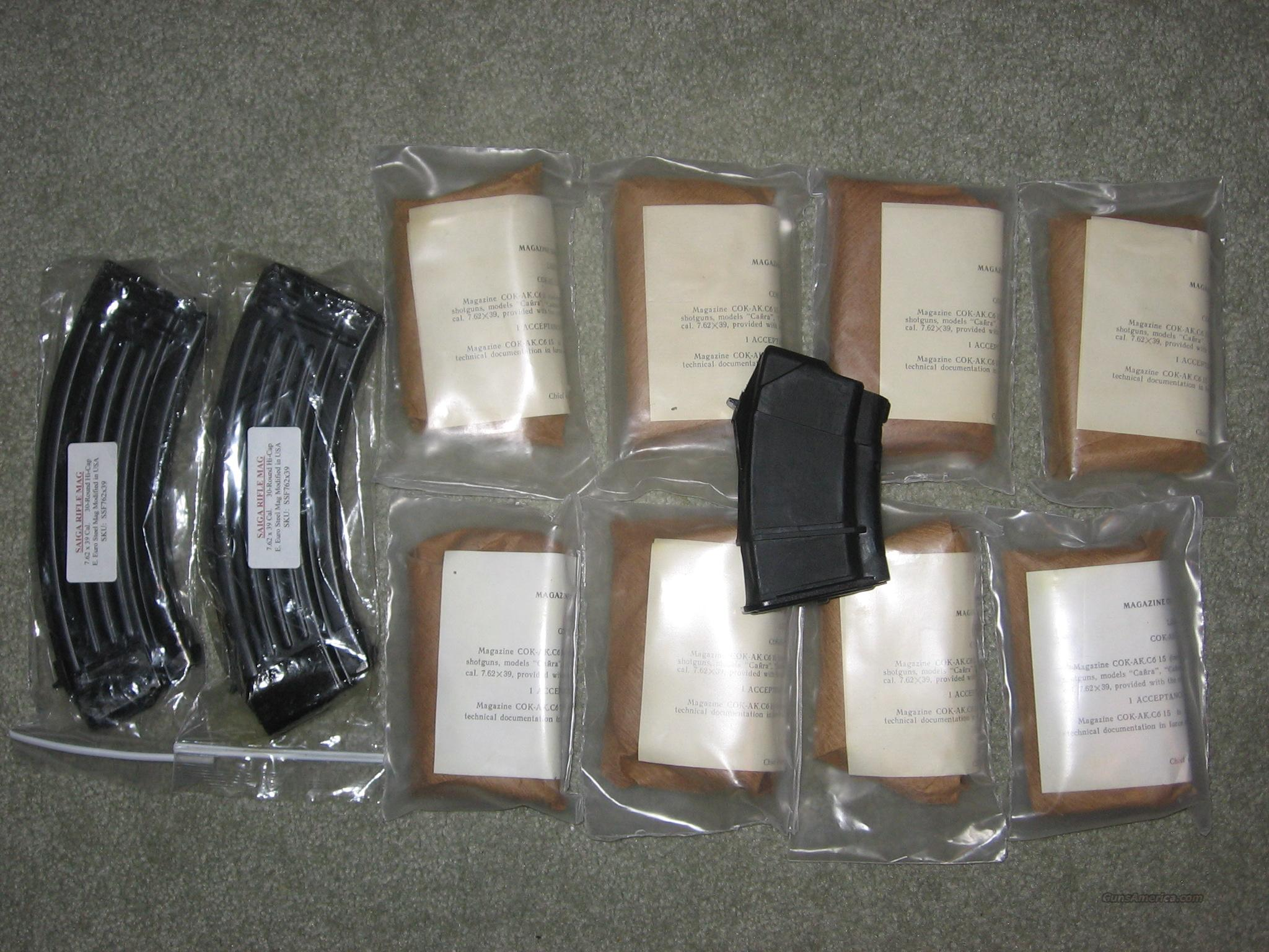 9 Saiga RAA IZH Factory 10 Round Mags + 2 New 30 Round Mags  Non-Guns > Magazines & Clips > Rifle Magazines > AK Family