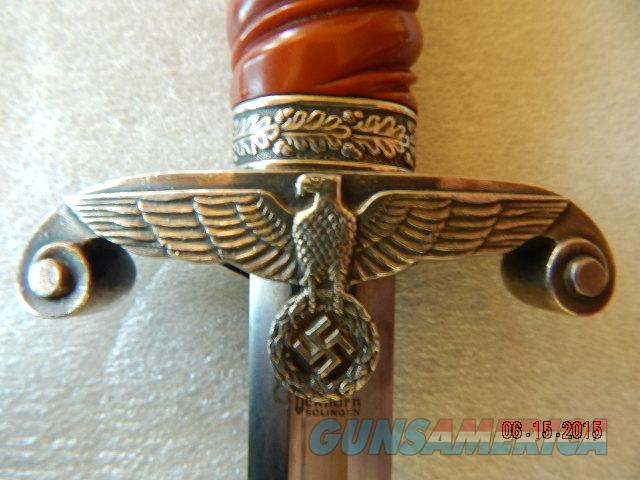WWII Nazi Wehrmacht Officer's Dagger w/scabbard, authentic! No reserve!!  Non-Guns > Knives/Swords > Military > Non-Bayonets