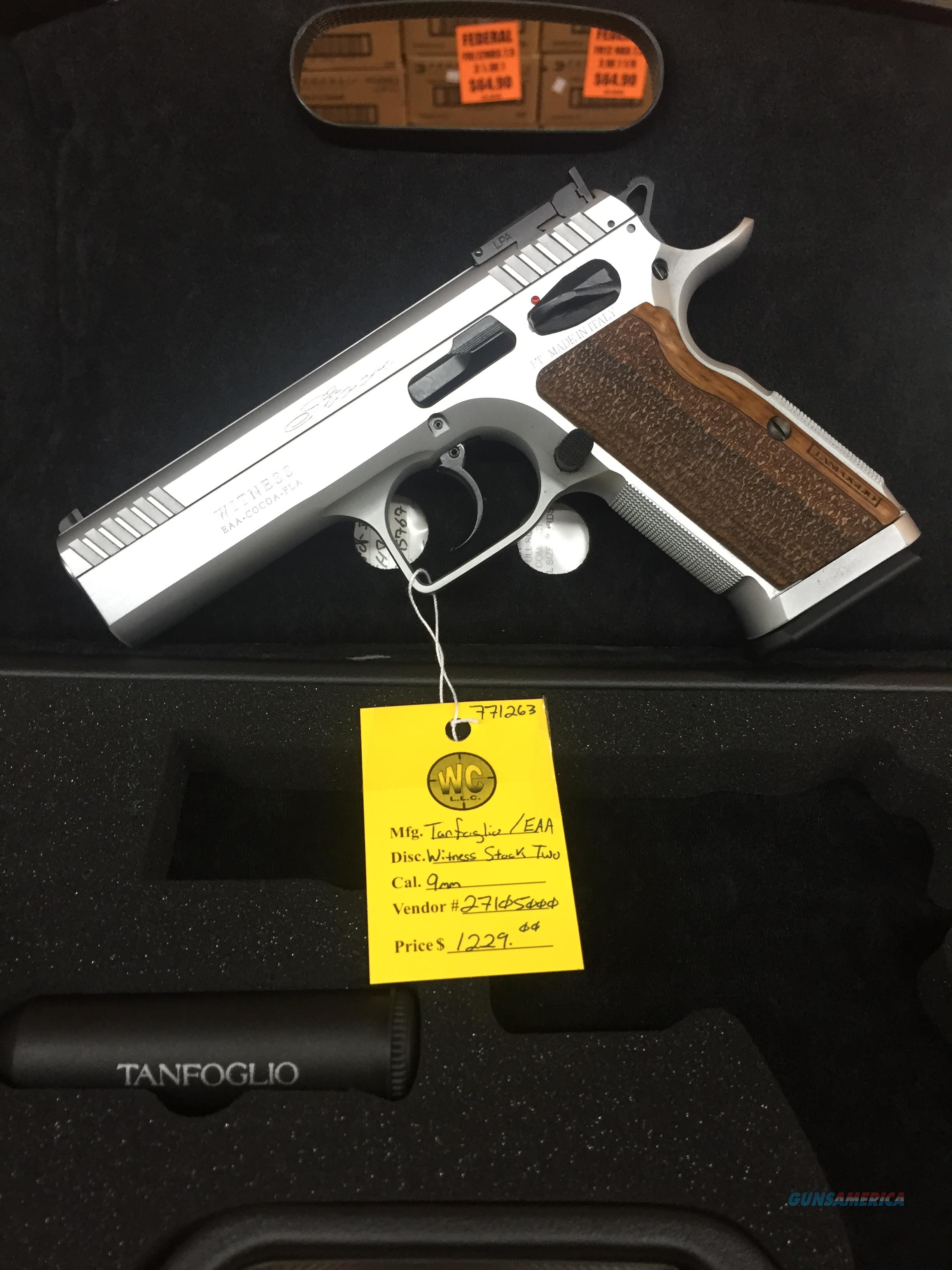 Tanfoglio/EAA Stock II 9mm Pistol  Guns > Pistols > EAA Pistols > Other