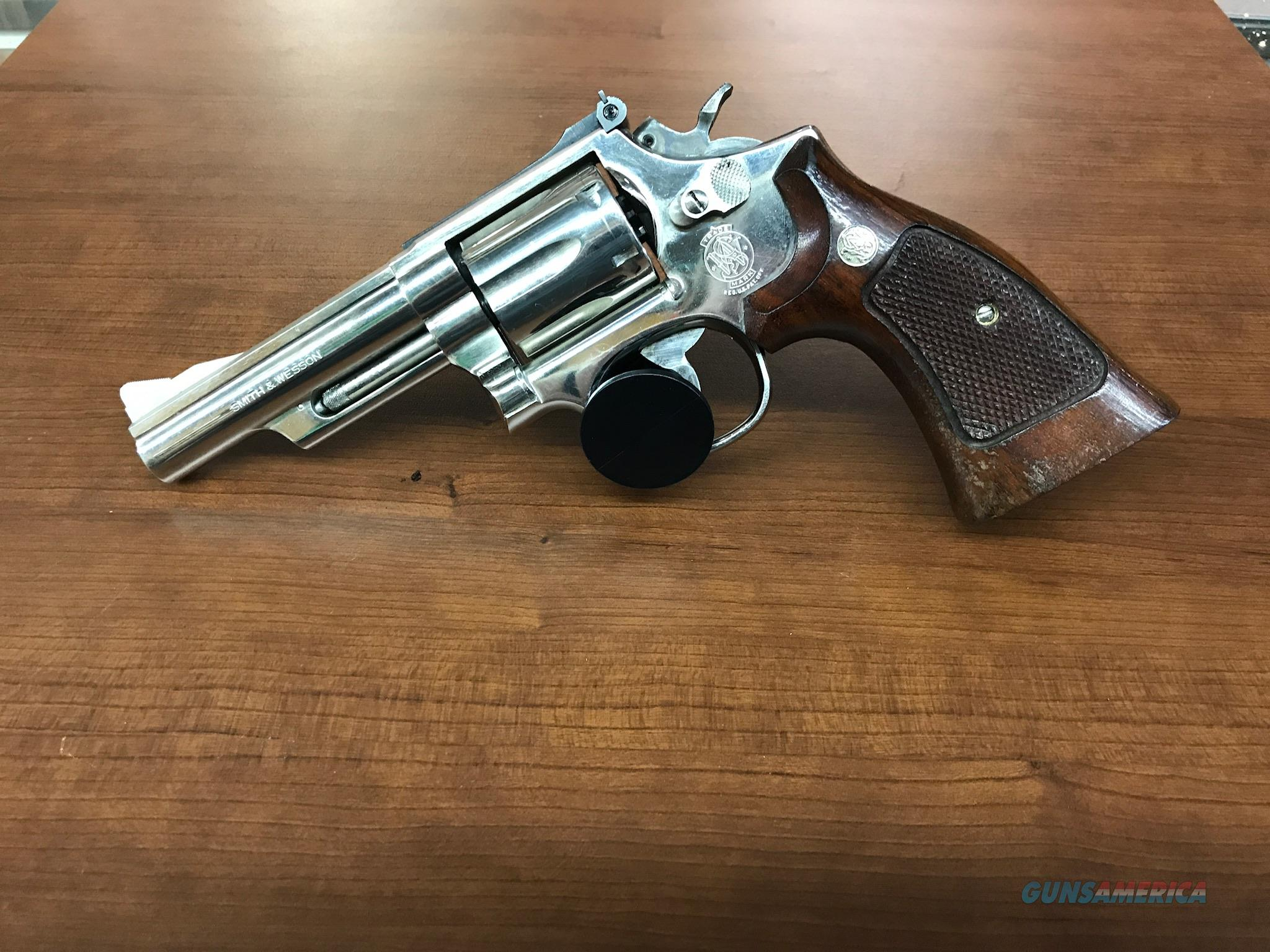 S&W Model 19-5 Nickel .357 Mag Used  Guns > Pistols > Smith & Wesson Revolvers > Med. Frame ( K/L )