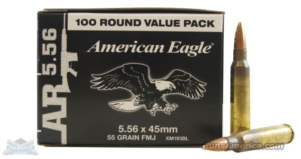 FEDERAL XM193BL 5.56 55GR FMJ 500 ROUNDS  Non-Guns > Ammunition