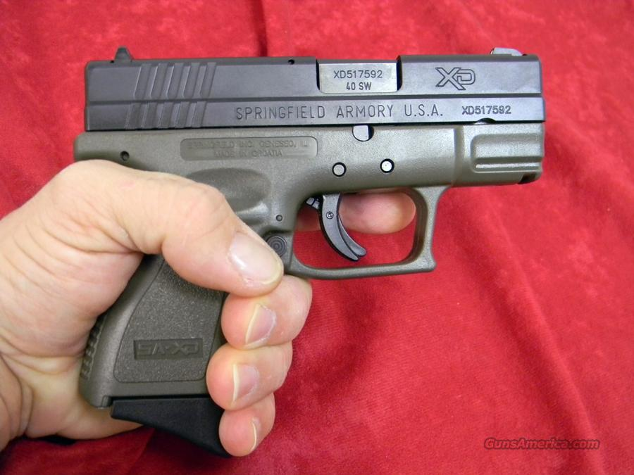 SPRINGFIELD XD 40 SUB COMPACT *CA LEGAL*  Guns > Pistols > Springfield Armory Pistols > XD (eXtreme Duty)