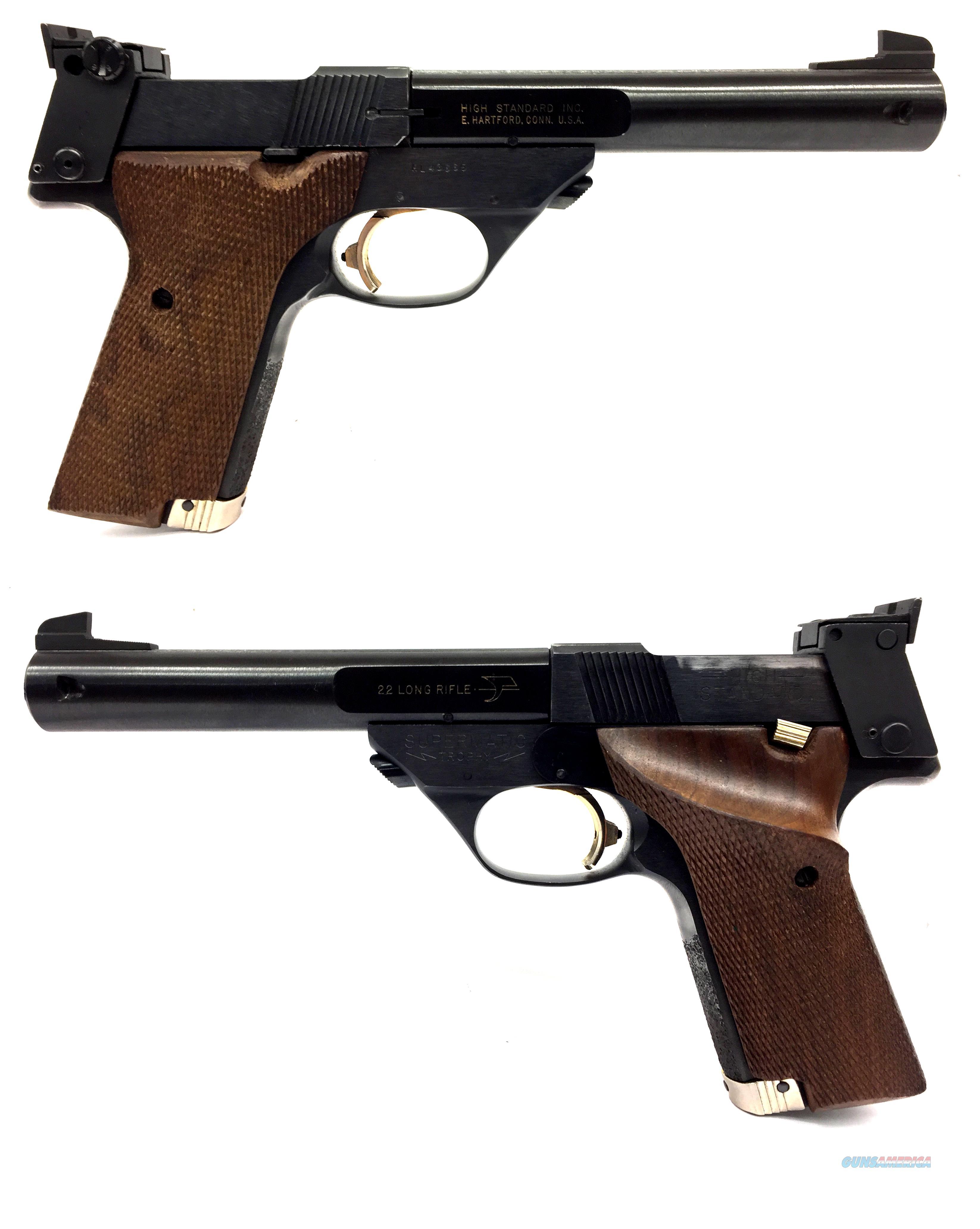 High Standard Supermatic Trophy .22LR Semi-Automatic Pistol W/ Extras  Guns > Pistols > High Standard Pistols
