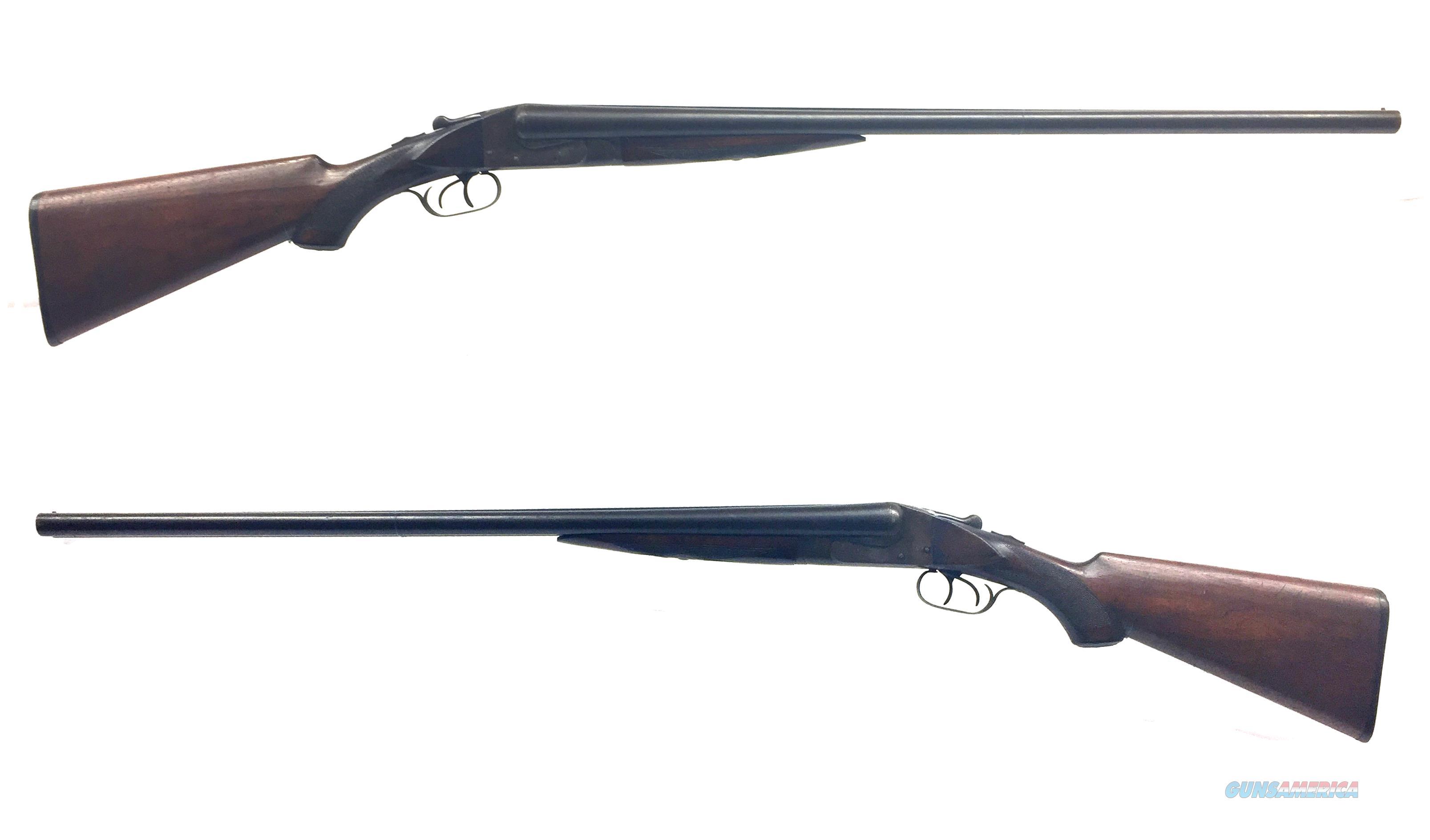 Ithaca Lewis Hammerless 12GA SxS Shotgun W/ Damascus Steel Barrels  Guns > Shotguns > Ithaca Shotguns > SxS