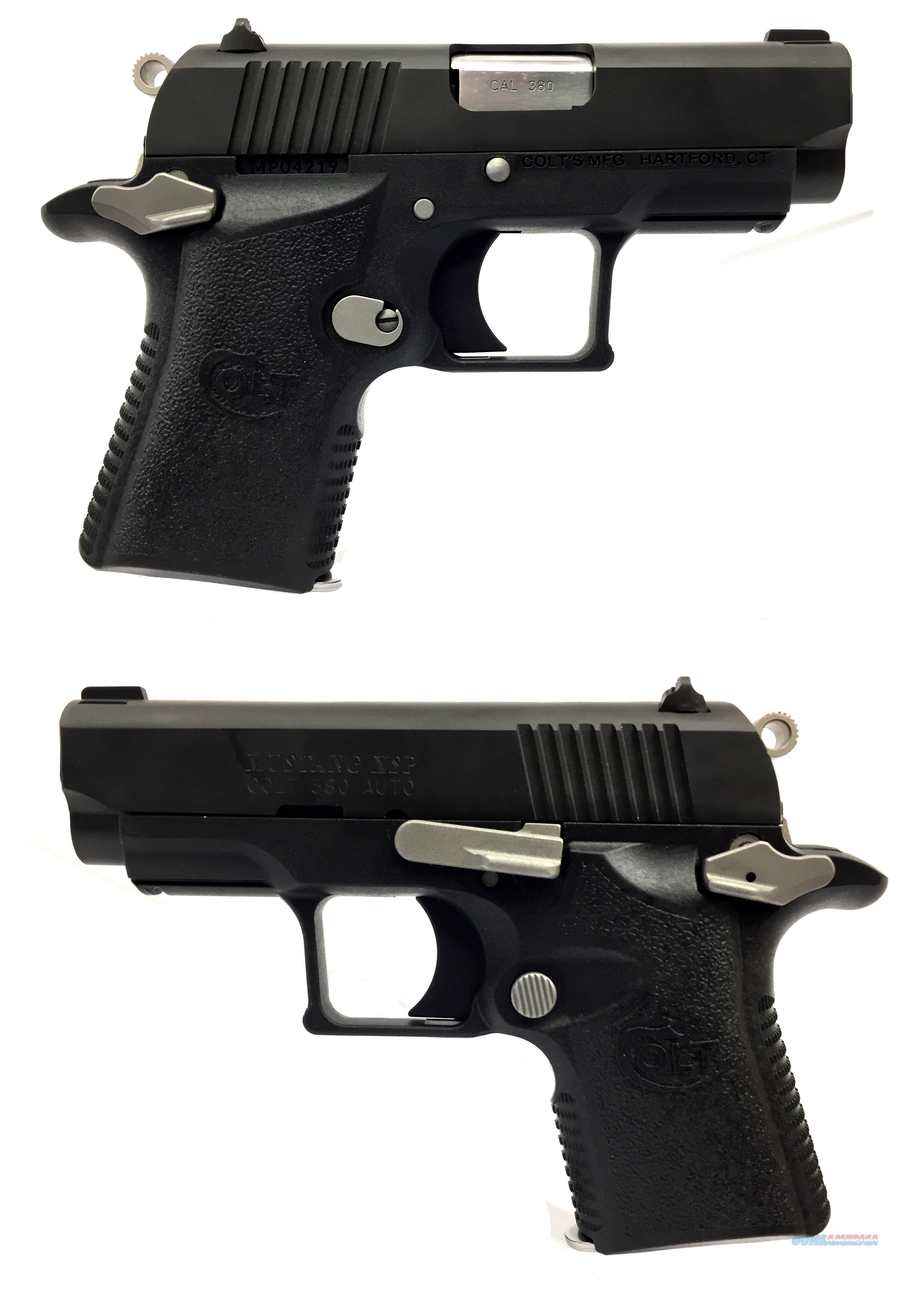 Colt Mustang XSP .380ACP Semi-Automatic Pistol  Guns > Pistols > Colt Automatic Pistols (.25, .32, & .380 cal)