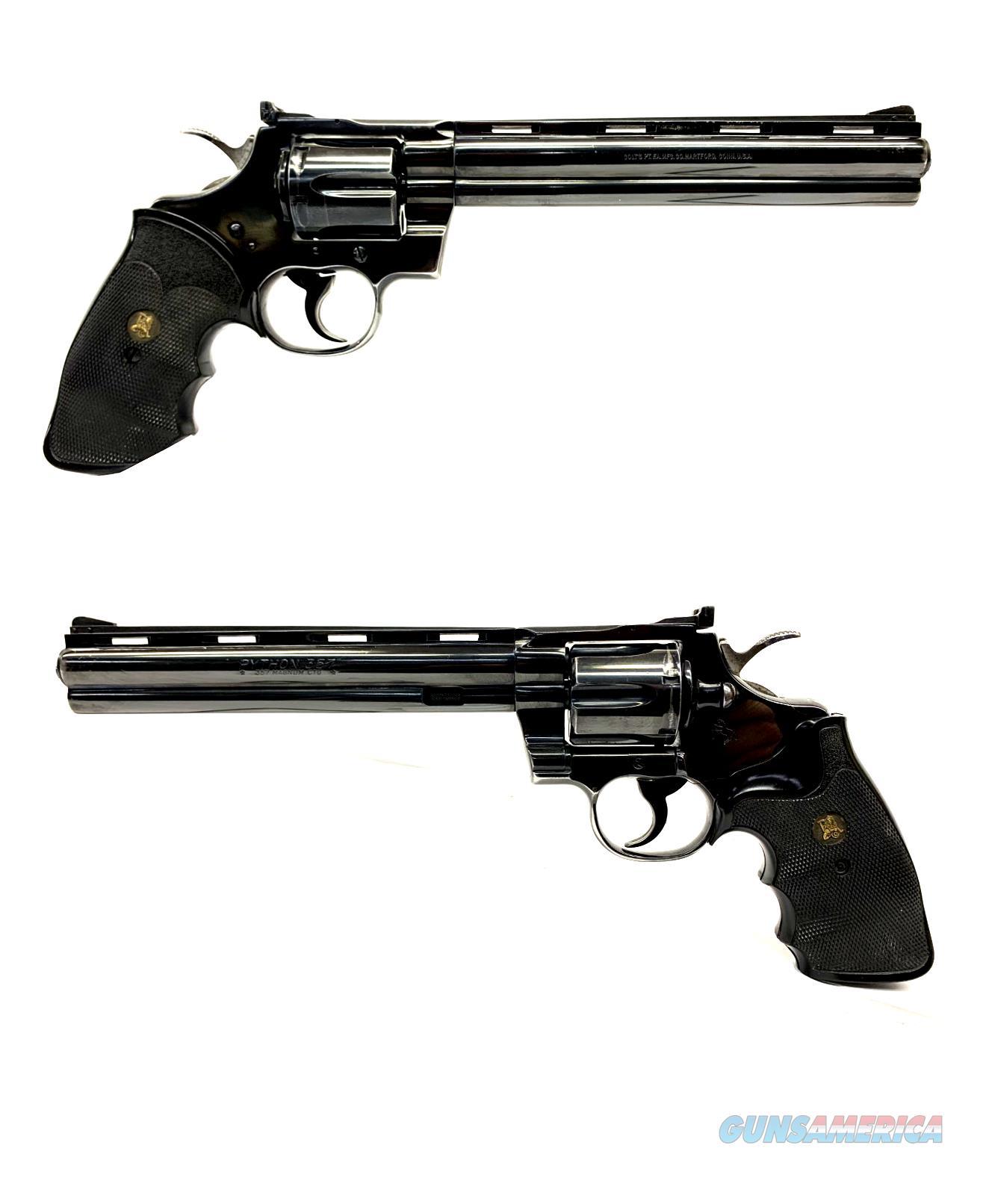 "Colt Python 8"" Barrel .357 MAGNUM Revolver  Guns > Pistols > Colt Double Action Revolvers- Modern"