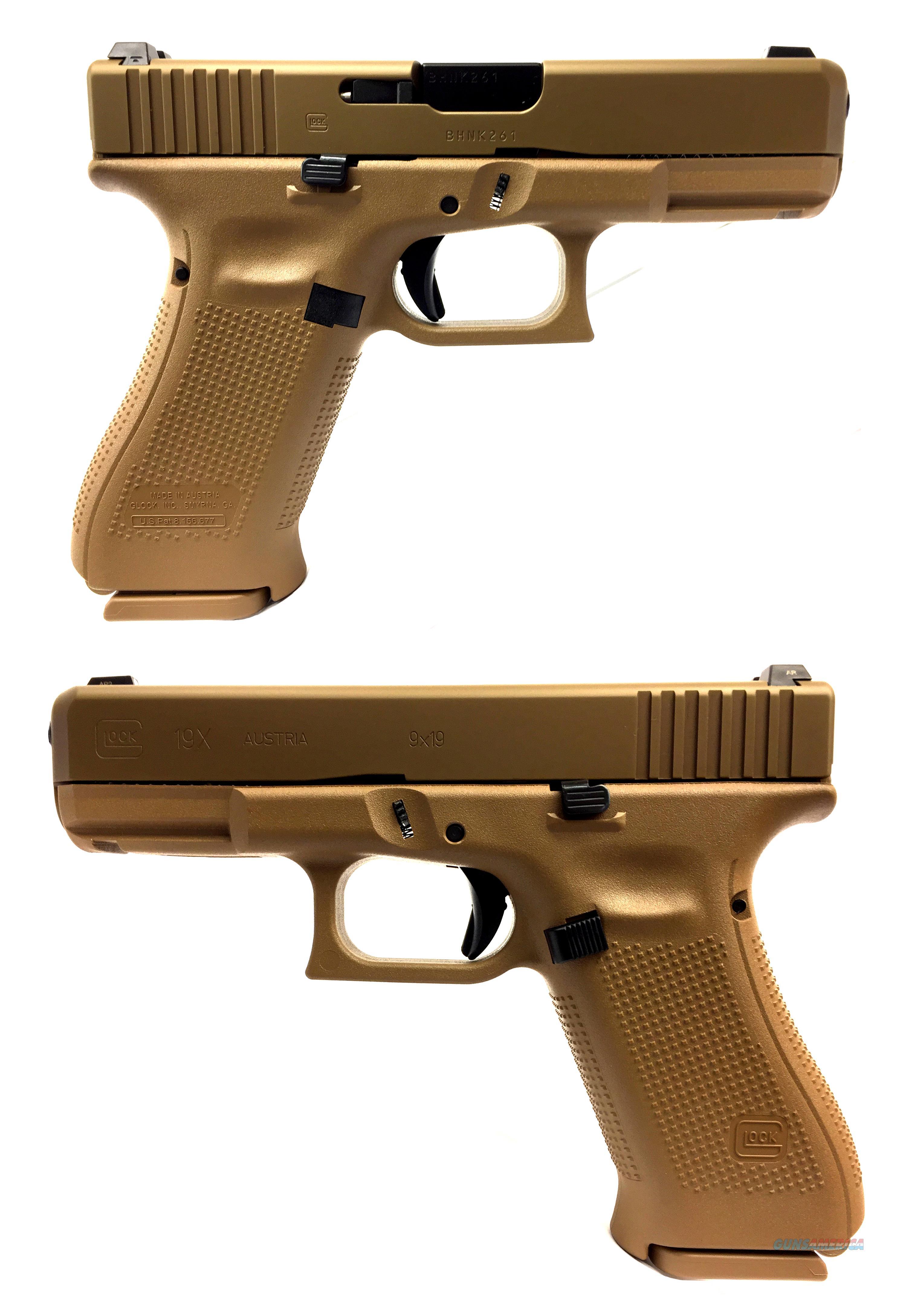 Glock 19X Semi-Automatic Pistol  Guns > Pistols > Glock Pistols > 19/19X