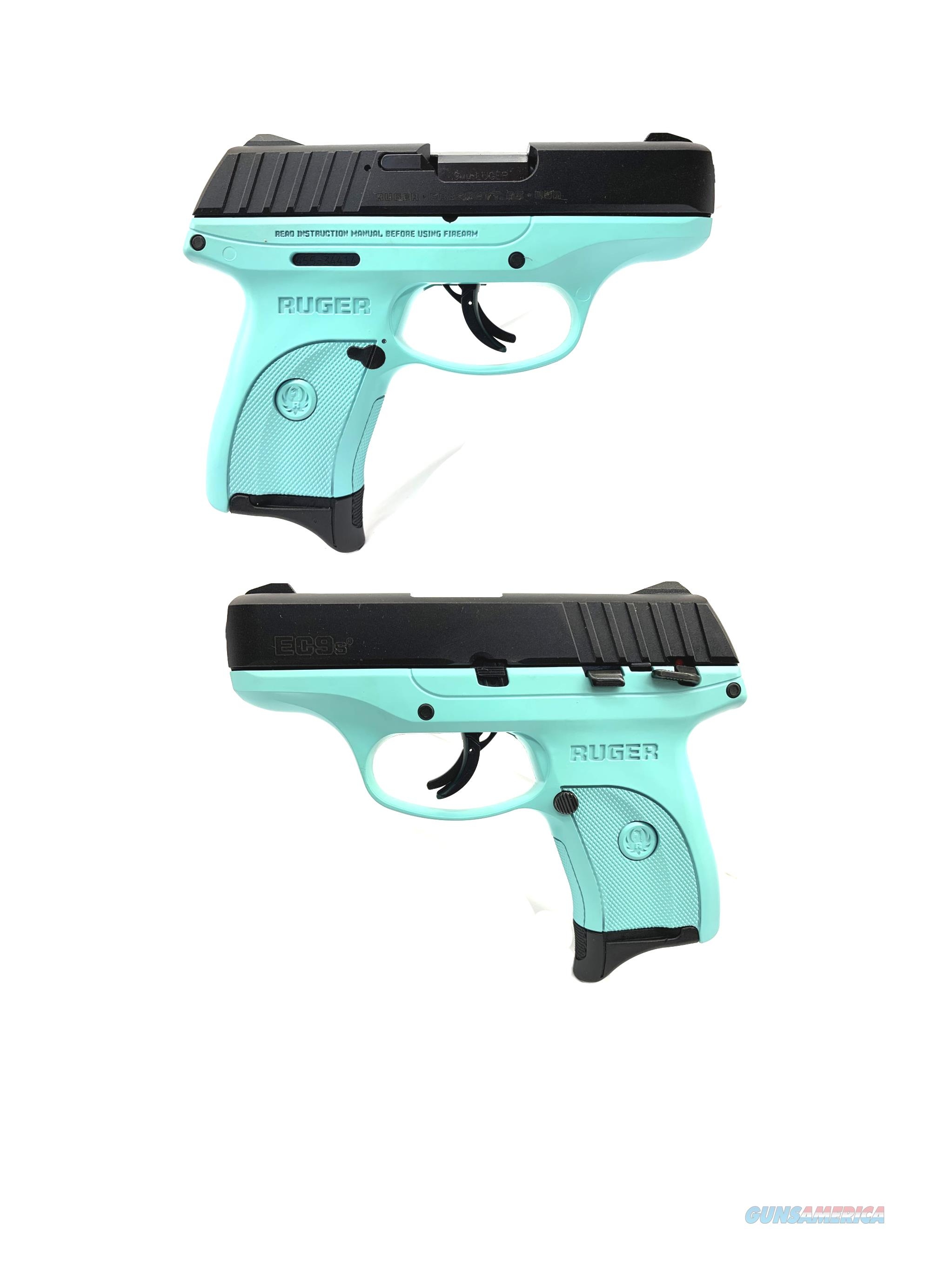 Ruger EC9s Turquoise Blue 9MM Semi-Automatic Pistol  Guns > Pistols > Ruger Semi-Auto Pistols > EC9
