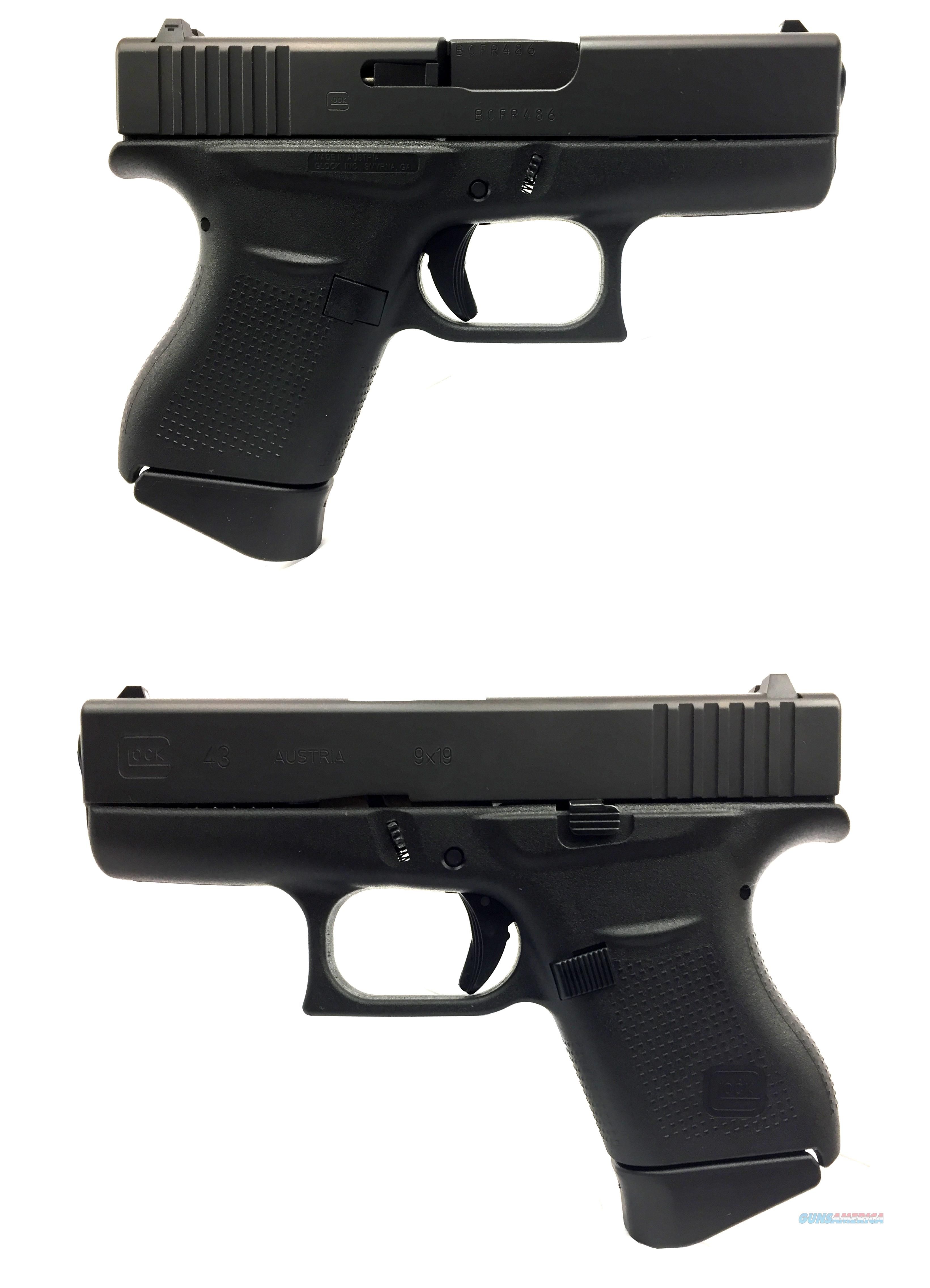 Glock 43 Semi-Automatic Pistol  Guns > Pistols > Glock Pistols > 43/43X