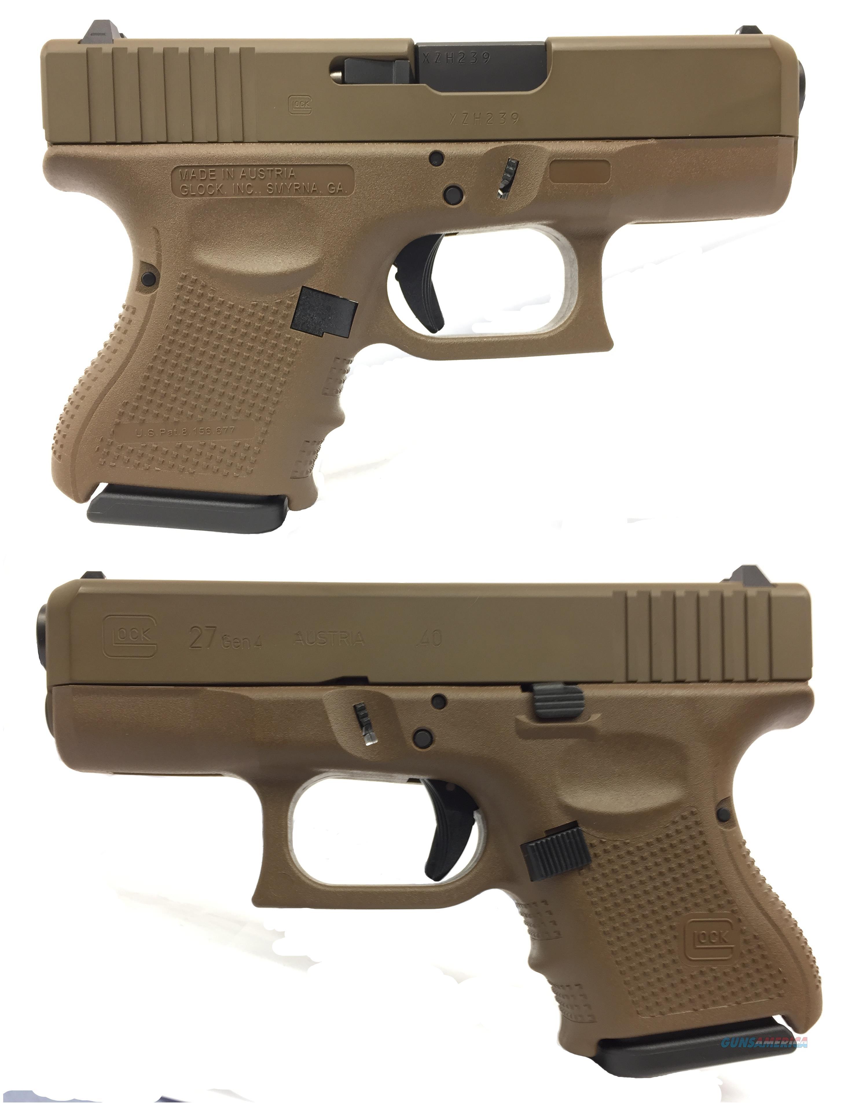 Glock 27 Gen4 40 S&W In FDE  Guns > Pistols > Glock Pistols > 26/27