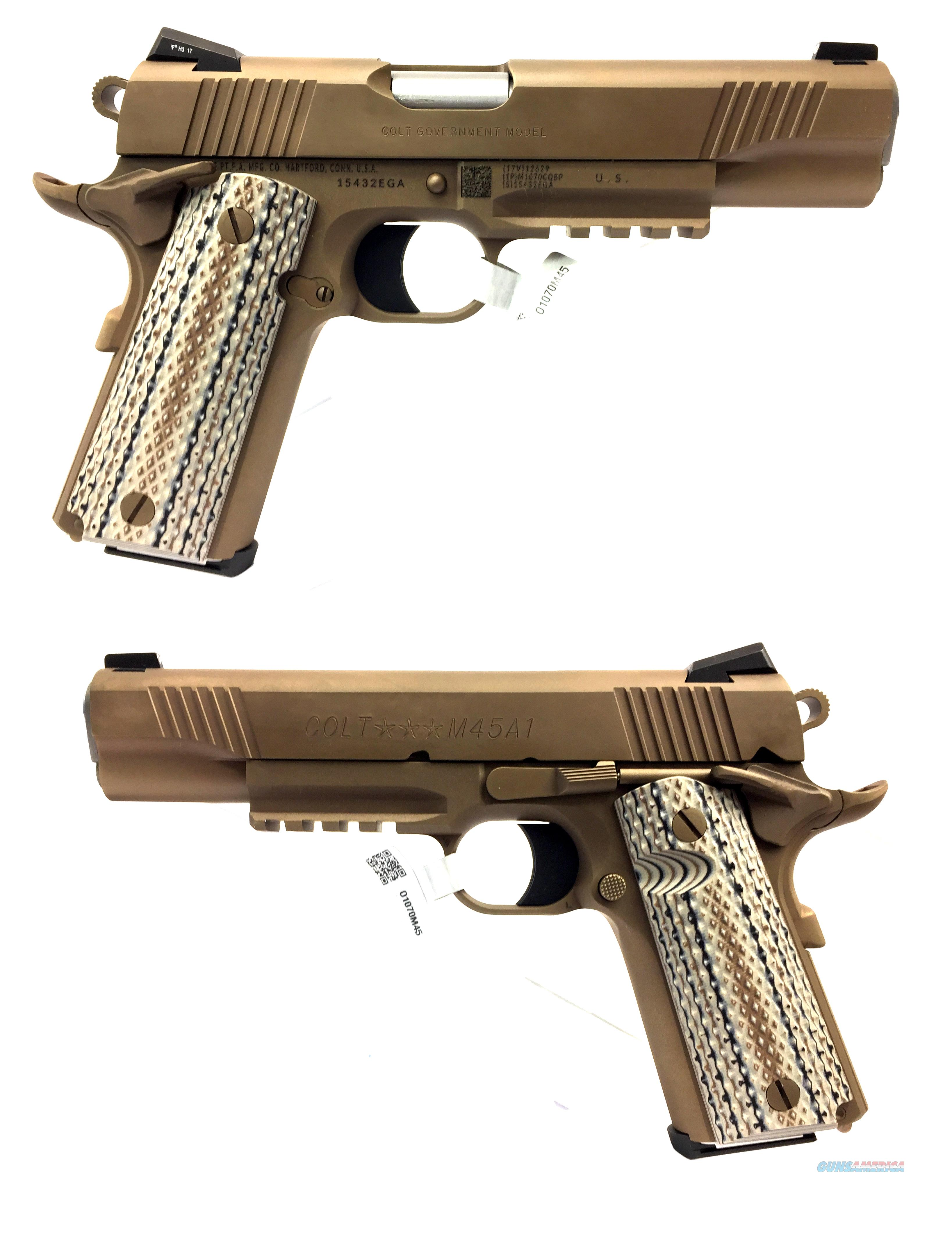 Colt 1911 Government M45 A1 In Zinc Brown Ion Finish With Rail  Guns > Pistols > Colt Automatic Pistols (1911 & Var)