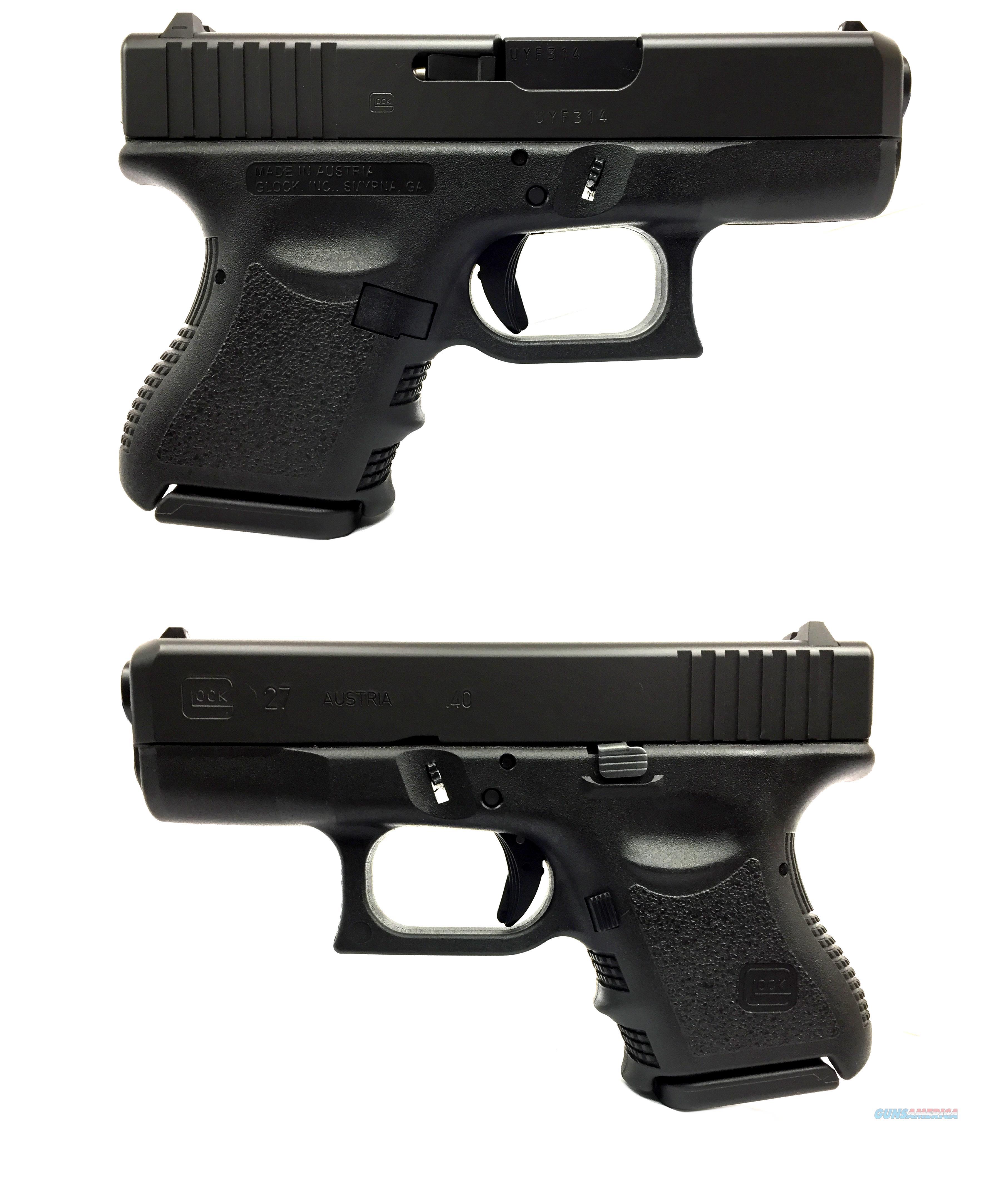 Glock 27 Subcompact .40S&W Pistol  Guns > Pistols > Glock Pistols > 26/27