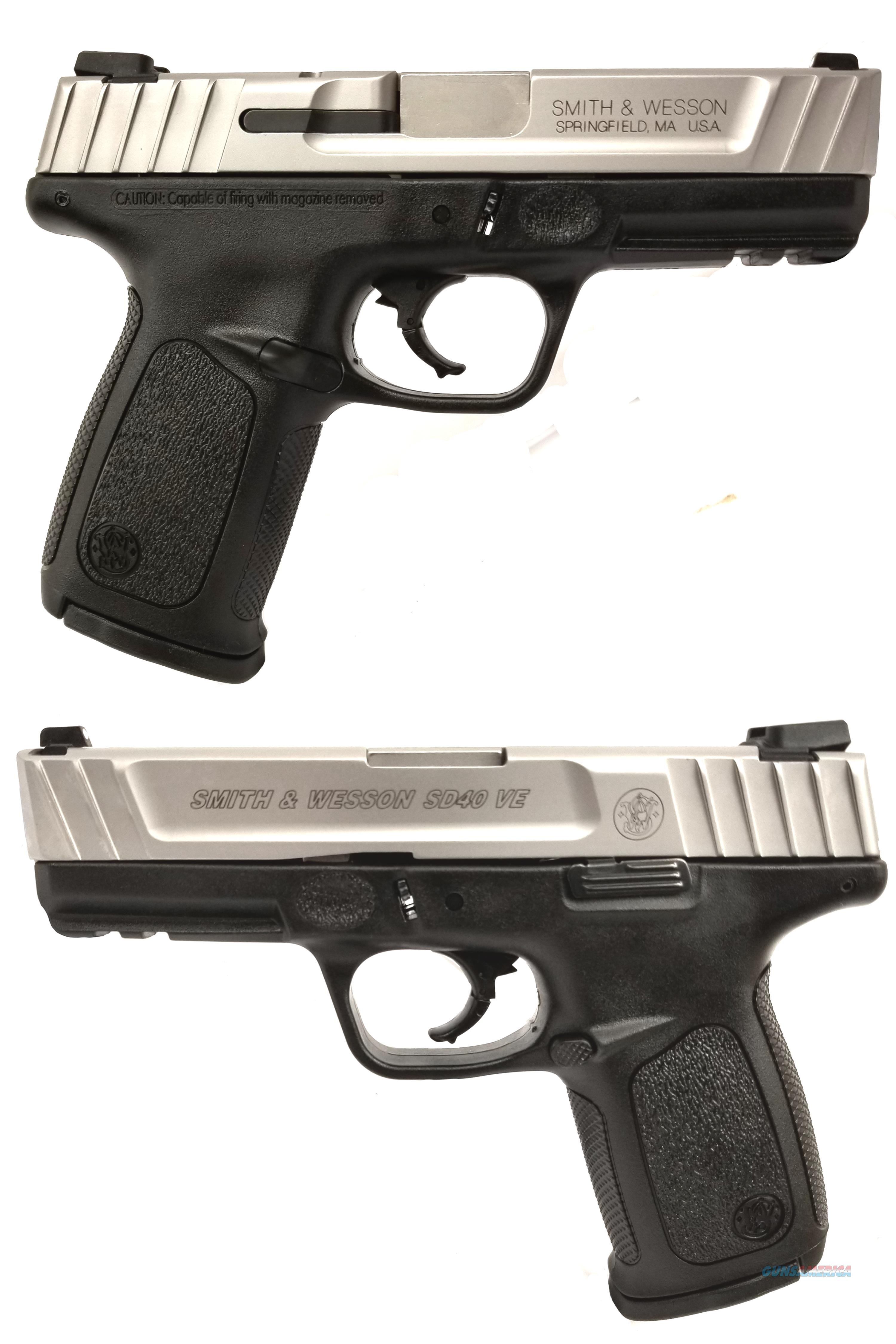 SMITH & WESSON SD40 VE .40S&W SEMI-AUTOMATIC HANDGUN  Guns > Pistols > Smith & Wesson Pistols - Autos > Polymer Frame