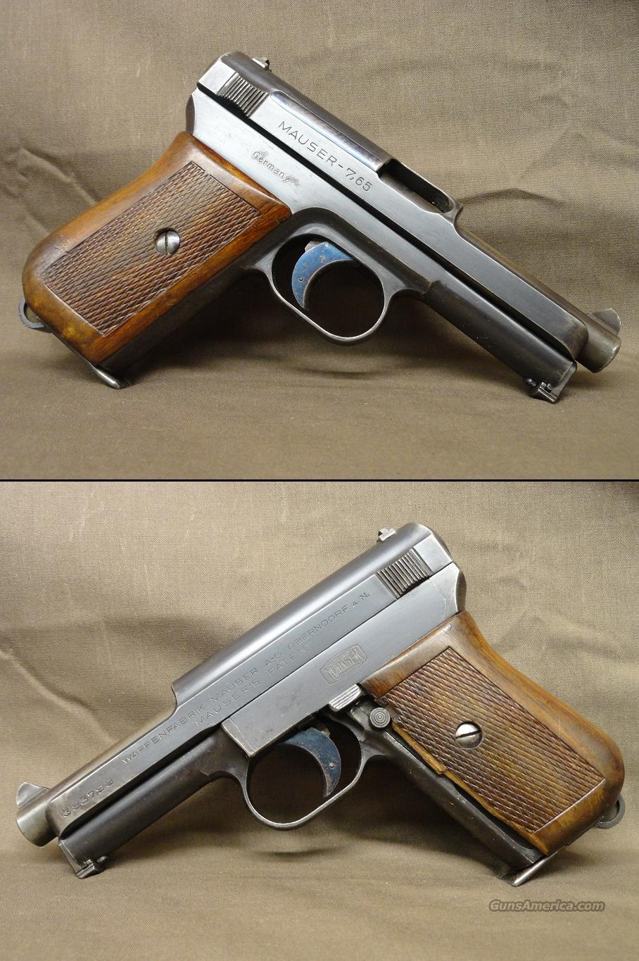 Mauser Model 1914 7.65mm (.32acp) post WWI 1920s model  Guns > Pistols > Mauser Pistols