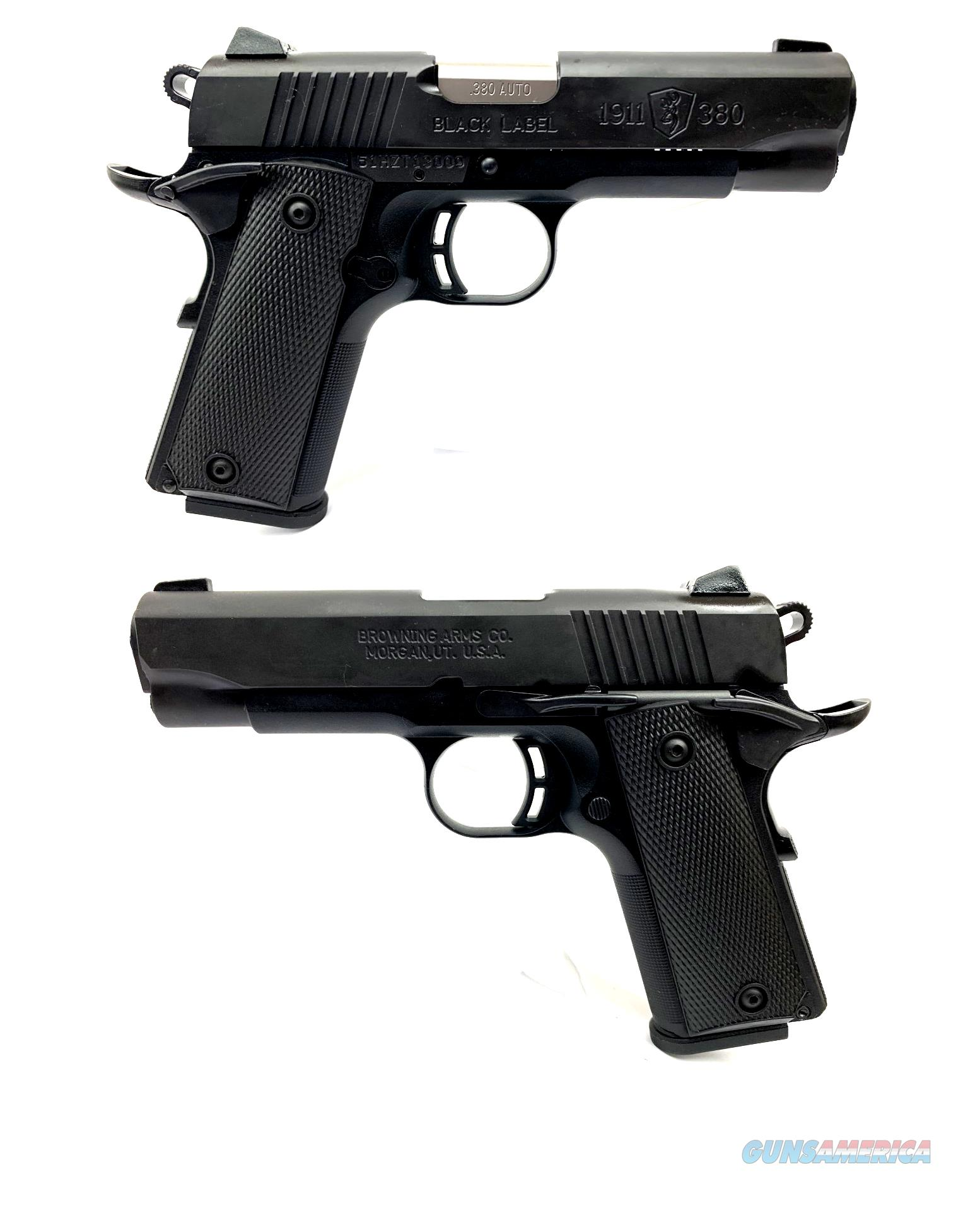 Browning 1911-380 Black Label Semi-Automatic Pistol  Guns > Pistols > Browning Pistols > Other Autos