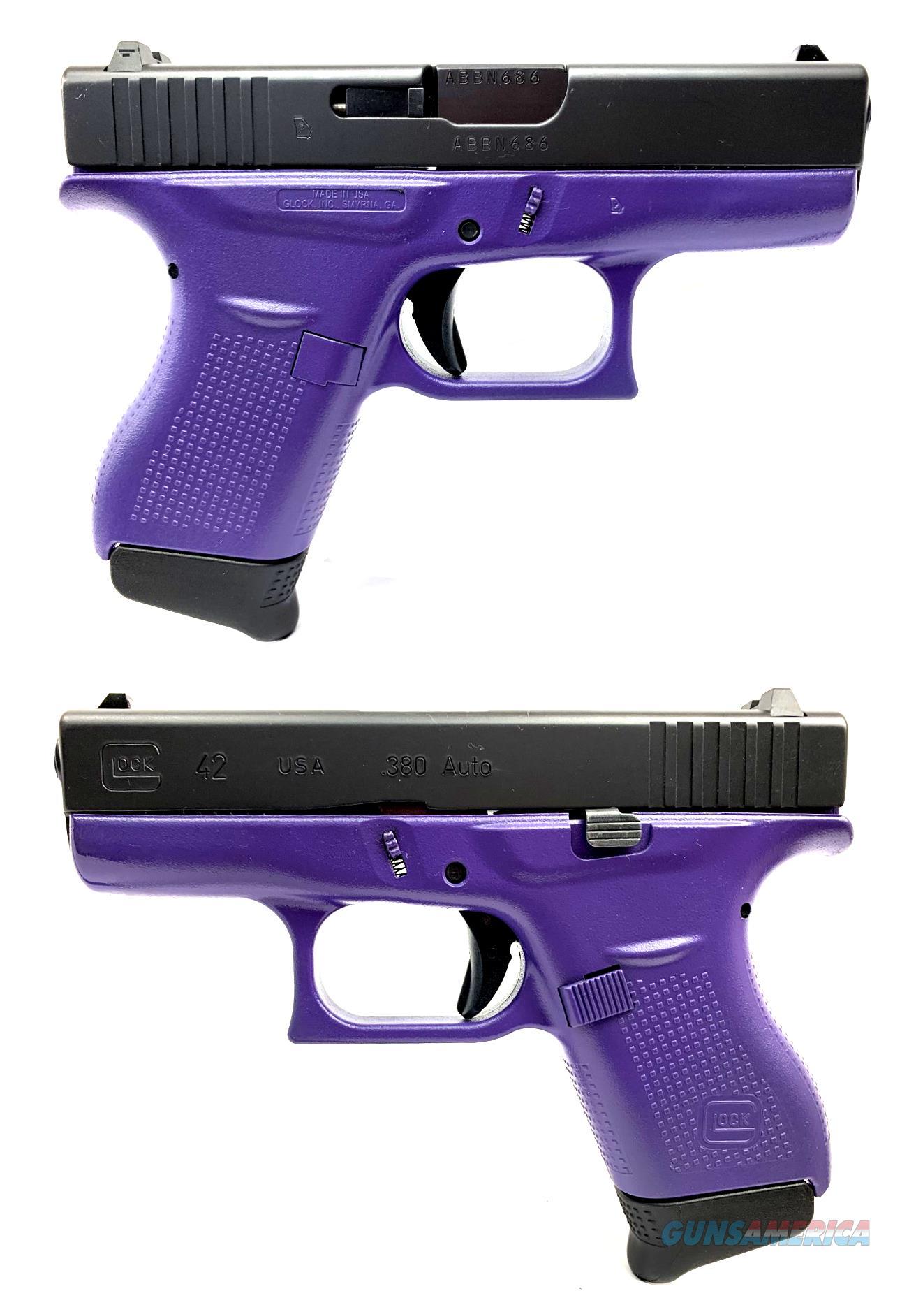 Glock 42 Purple Semi-Automatic Pistol  Guns > Pistols > Glock Pistols > 42