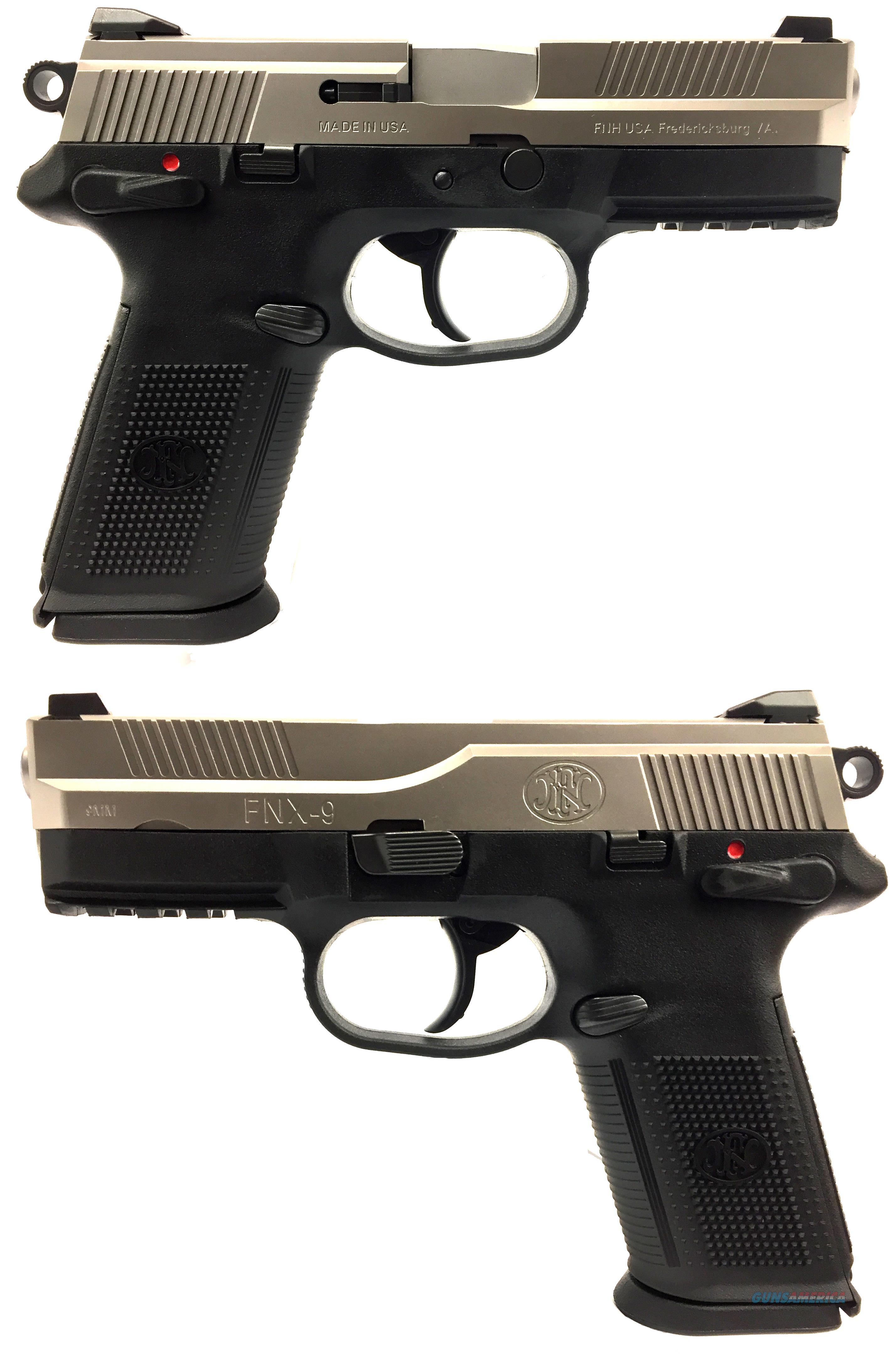 FNH FNX-9 w/ Stainless Steel Slide  Guns > Pistols > FNH - Fabrique Nationale (FN) Pistols > FNX