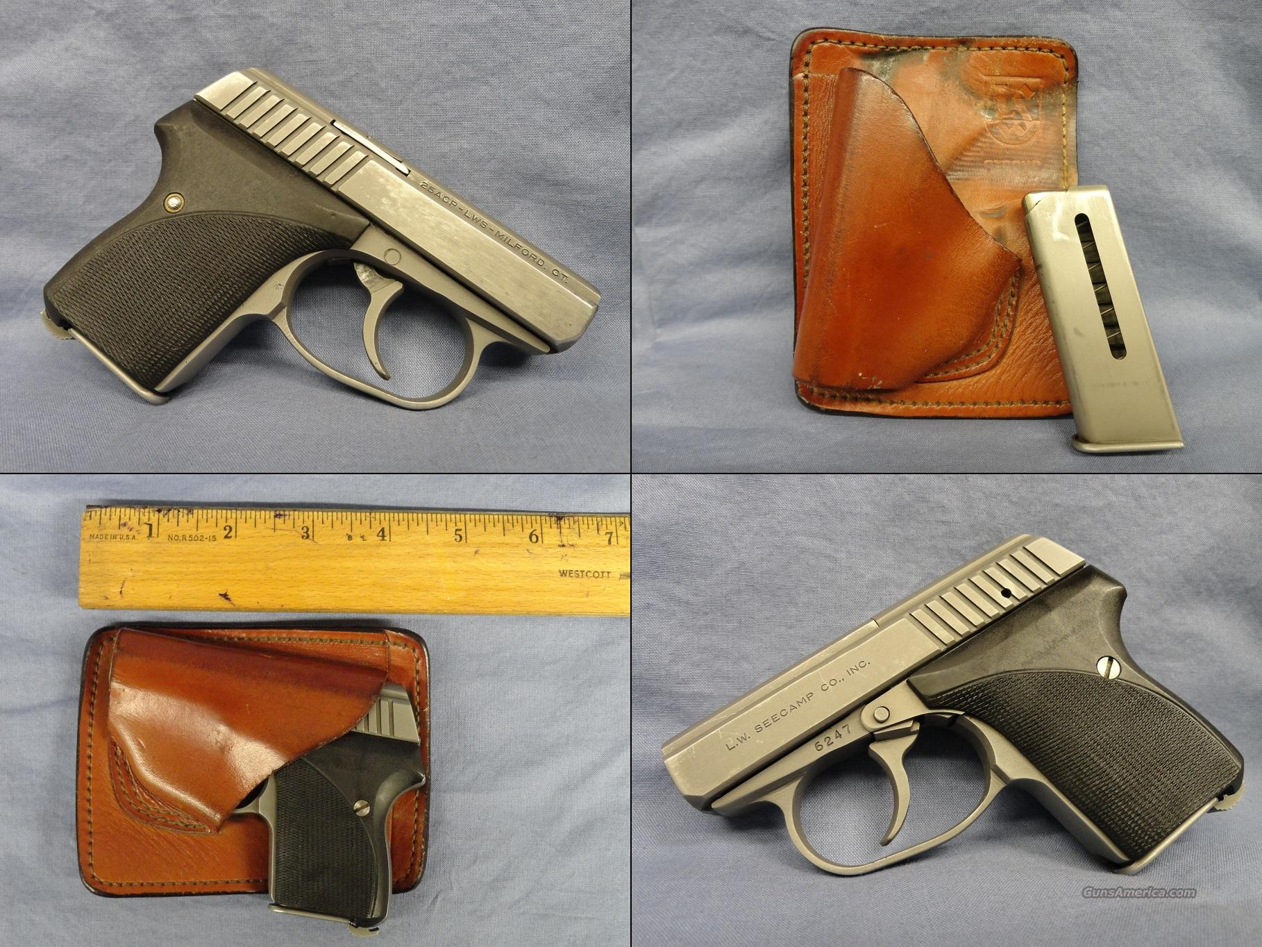 Seecamp .25ACP D/A only Pocket pistol with LWS Leather holster  Guns > Pistols > Seecamp Pistols