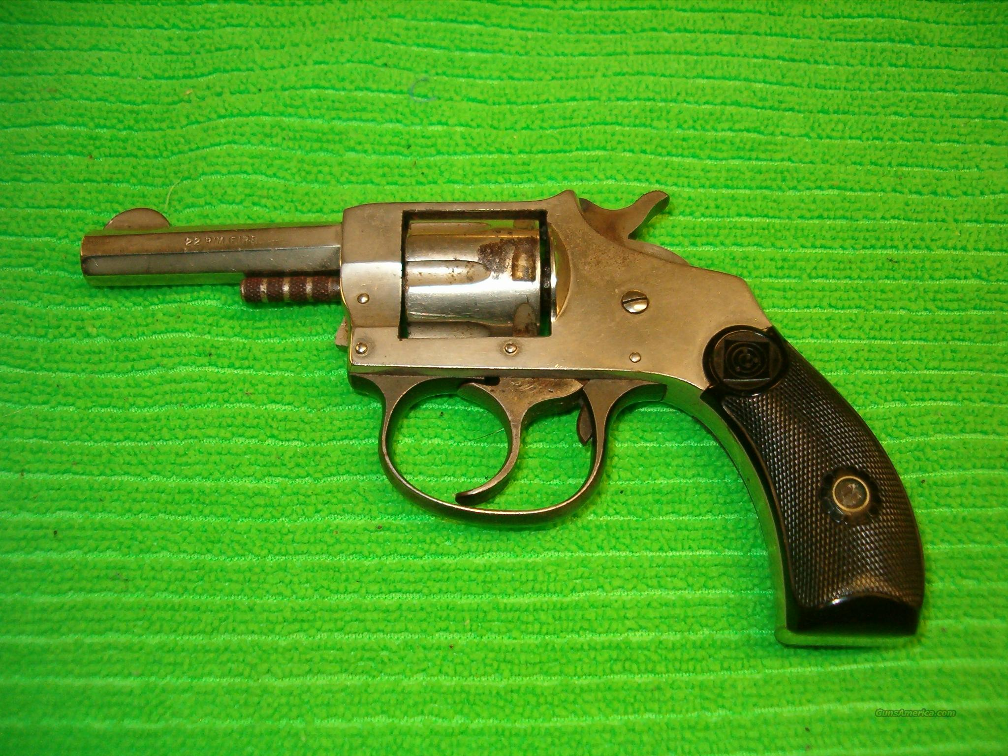 H & R Model 1906 .22l/r Nickel plated  7-shot  Guns > Pistols > Harrington & Richardson Pistols